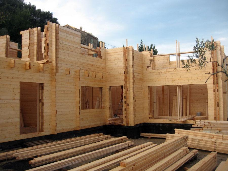 Edificación integra de madera
