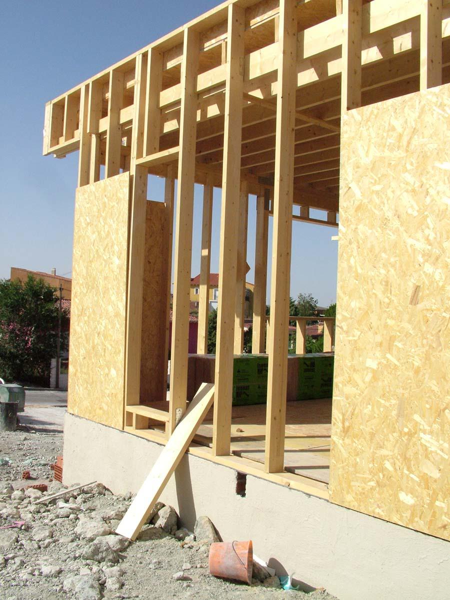 Construcción con madera y paneles OSB