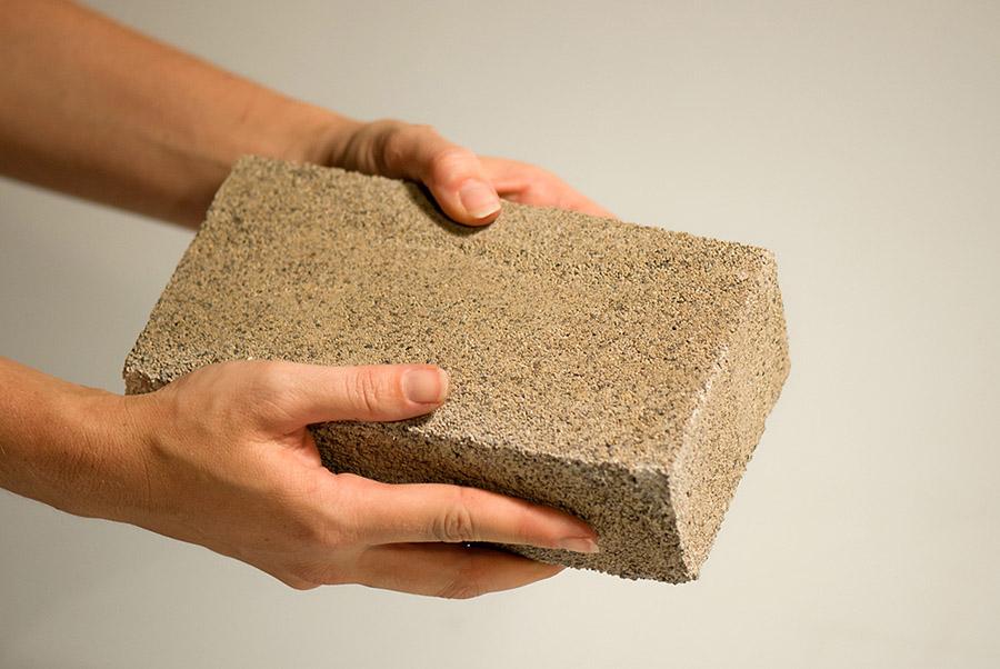 Un bloque de ladrillo Biomason