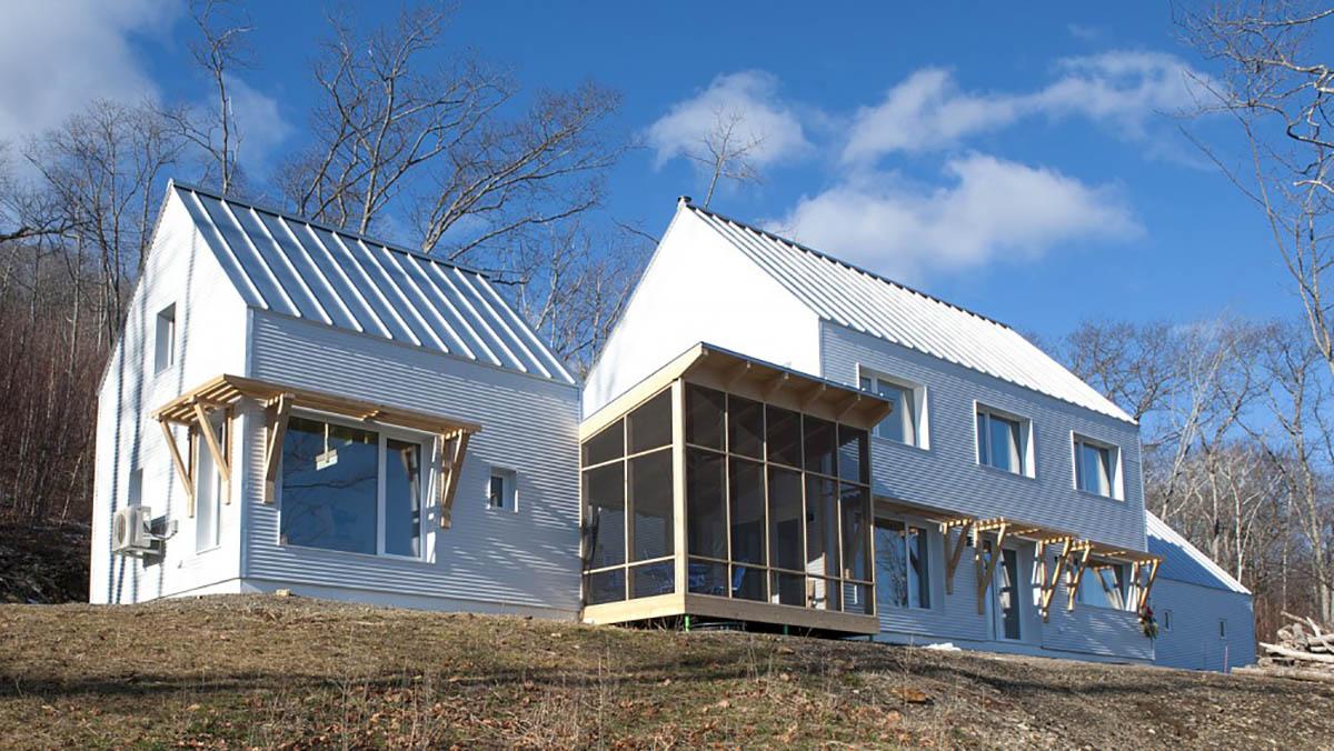 Una passivhaus prefabricada ejecutada por Ecocor.