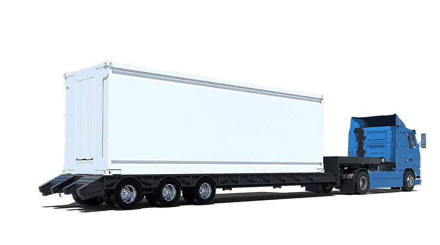 Los módulos del sistema Ten Fold tienen el tamaño de un container de barco mientras están plegados.