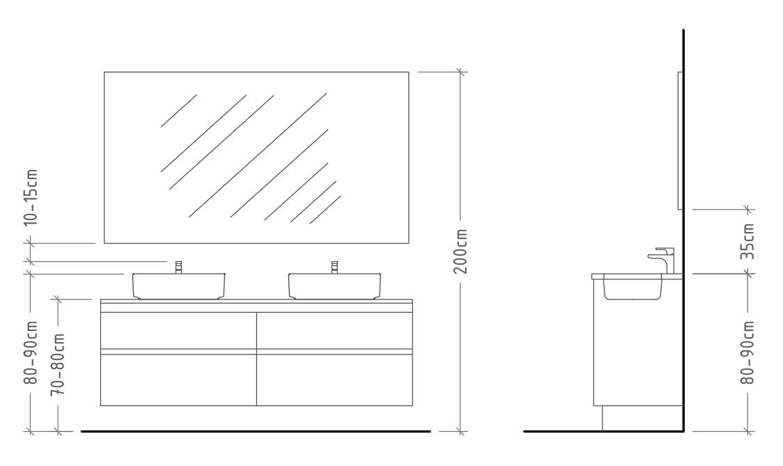 Arrevol Arquitectos Cómo Dimensionar Correctamente Un Baño Dimensiones Mínimas De Los Aparatos Sanitarios