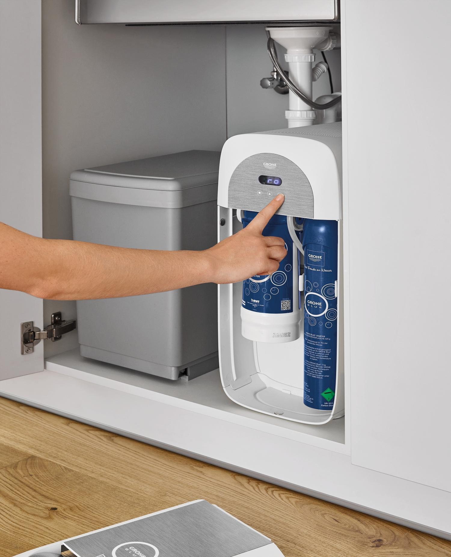 La marca Grohe tiene su propio sistema de filtrado y tratamiento de agua