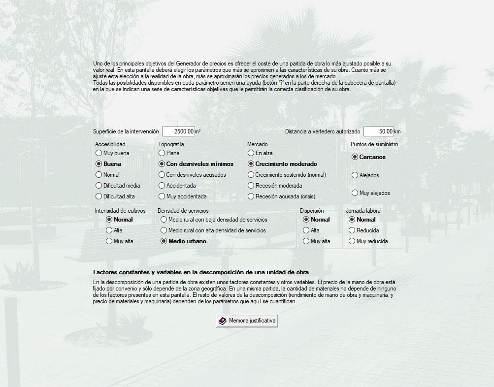 Parámetros espacios urbanos