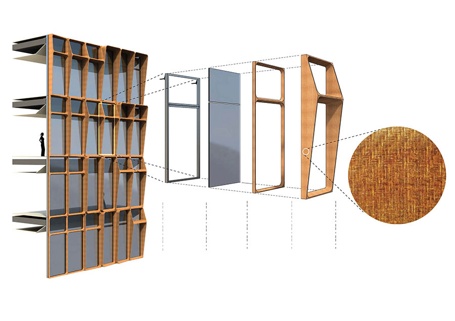 Paneles de muro cortina a partir de compuestos de fibras naturales desarrollados en Osirys.