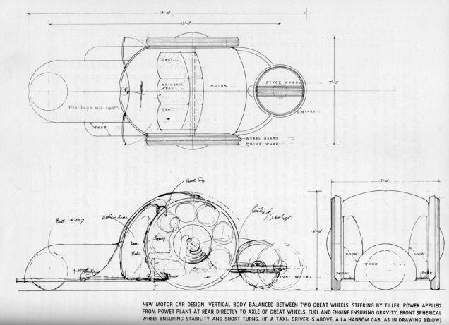 El llamado Road Machine, diseñado por el arquitecto Frank Lloyd Wright, un gran aficionado de los coches.