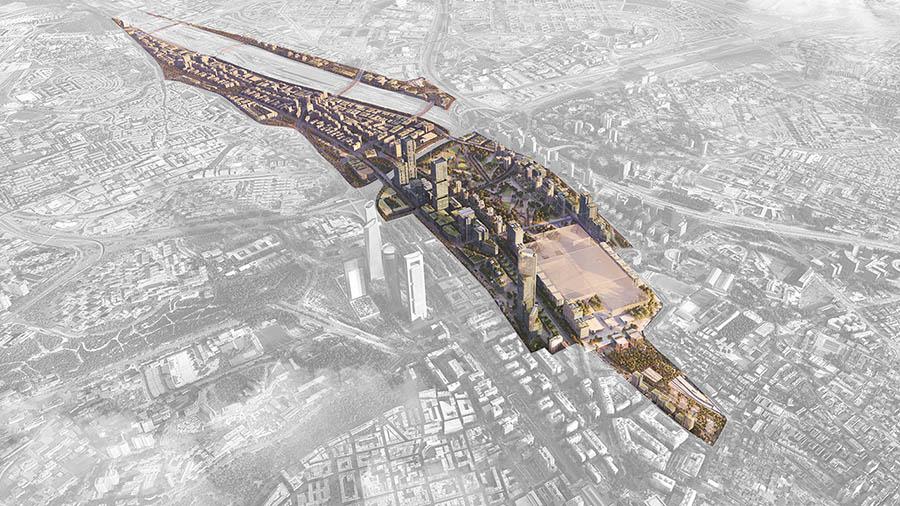 Perspectiva del desarrollo de Madrid Nuevo Norte.