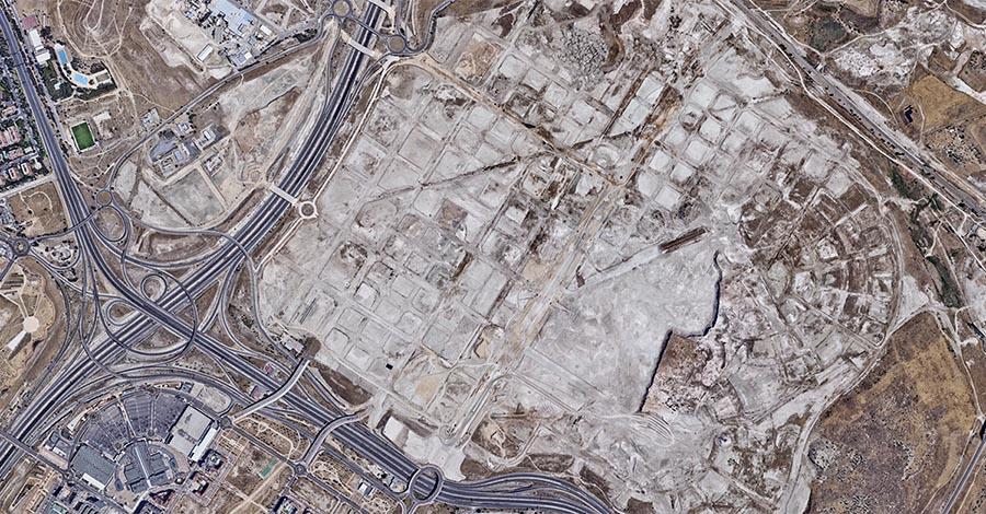 Vista aérea de lo que será el desarrollo de Los Berrocales.
