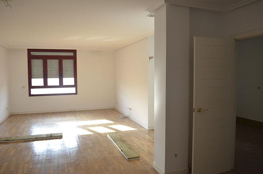 Fotografía de estado original: La nueva habitación principal se ubicaría en el antiguo salón.