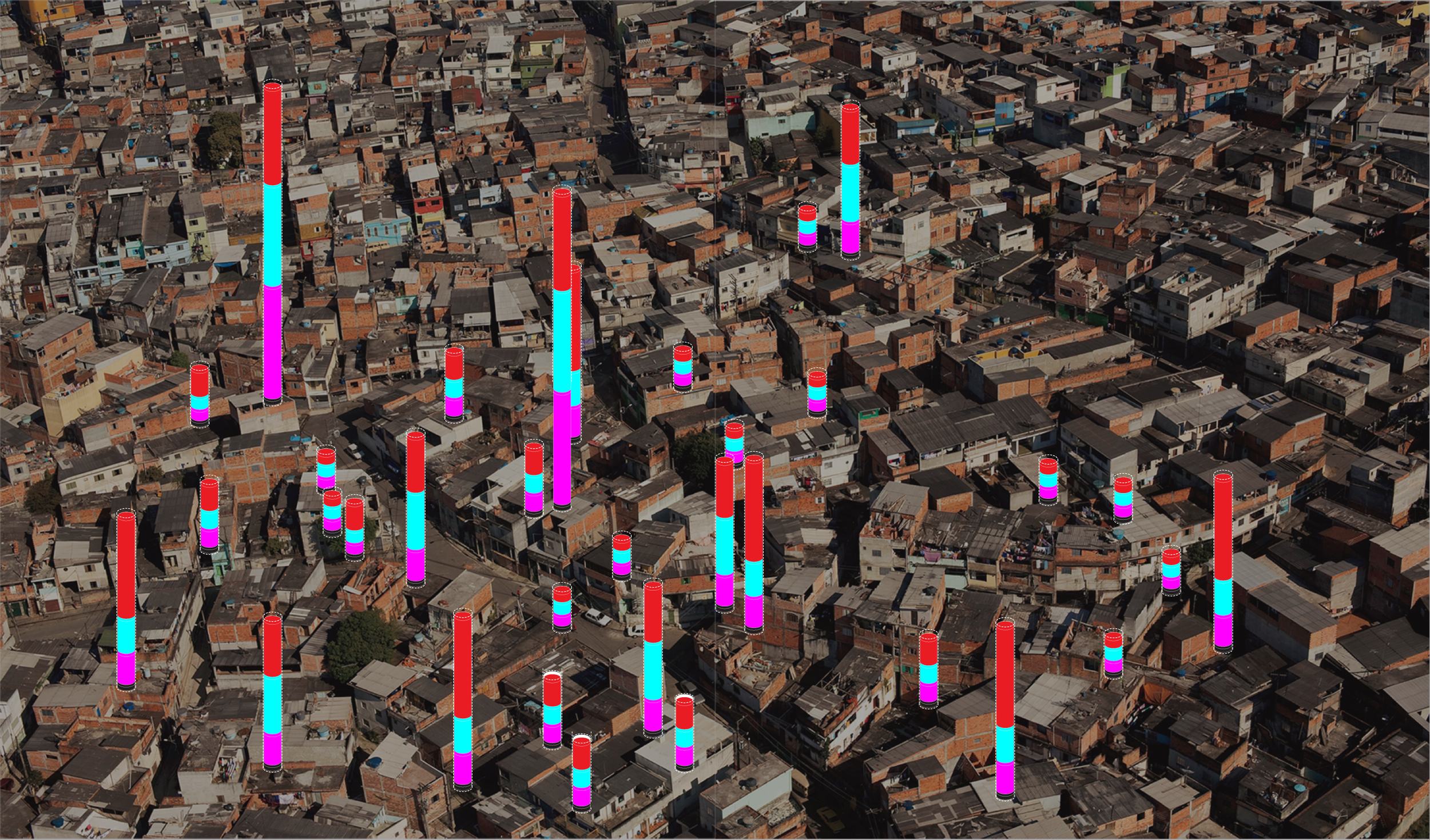 Different data streams combined to create customer profiles (Cidade Nova Heliópolis in São Paulo, Brazil)