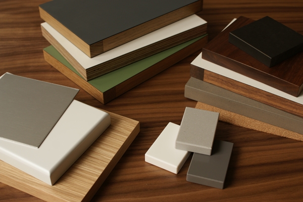 A collection of samples from the standforth kitchen material library