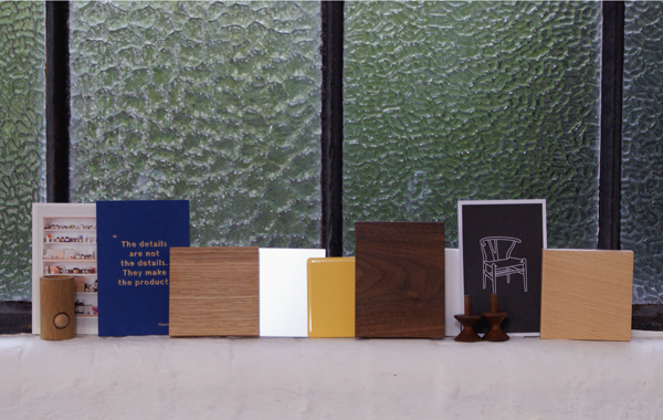 A range of samples collected on the standforth workshop window