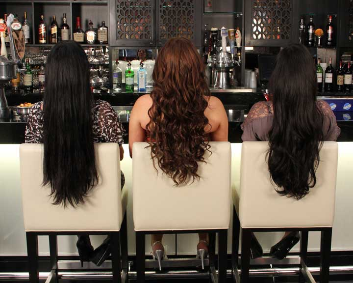 long hair extensions styles