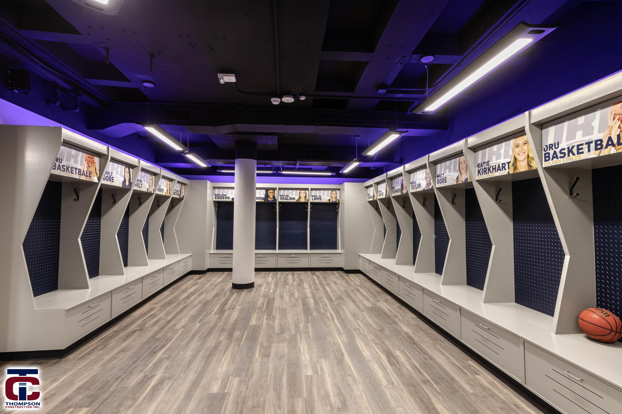ORU WOMen's basketball locker rooms -