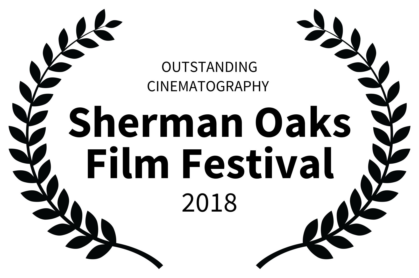 OUTSTANDING CINEMATOGRAPHY  - Sherman Oaks Film Festival - 2018.png