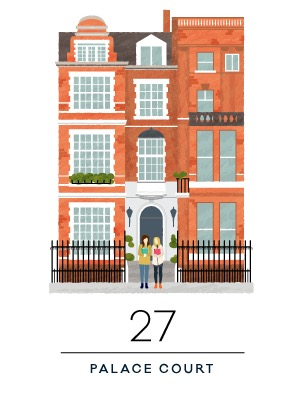 Two girls who met at London Study Abroad, became fast friends fast, and share a penchant for picking good books.    **If you lived at 27 Palace Ct and want your own free printable (minus us, of course) click  here . Courtesy of the insanely talented  Alma Loveland .