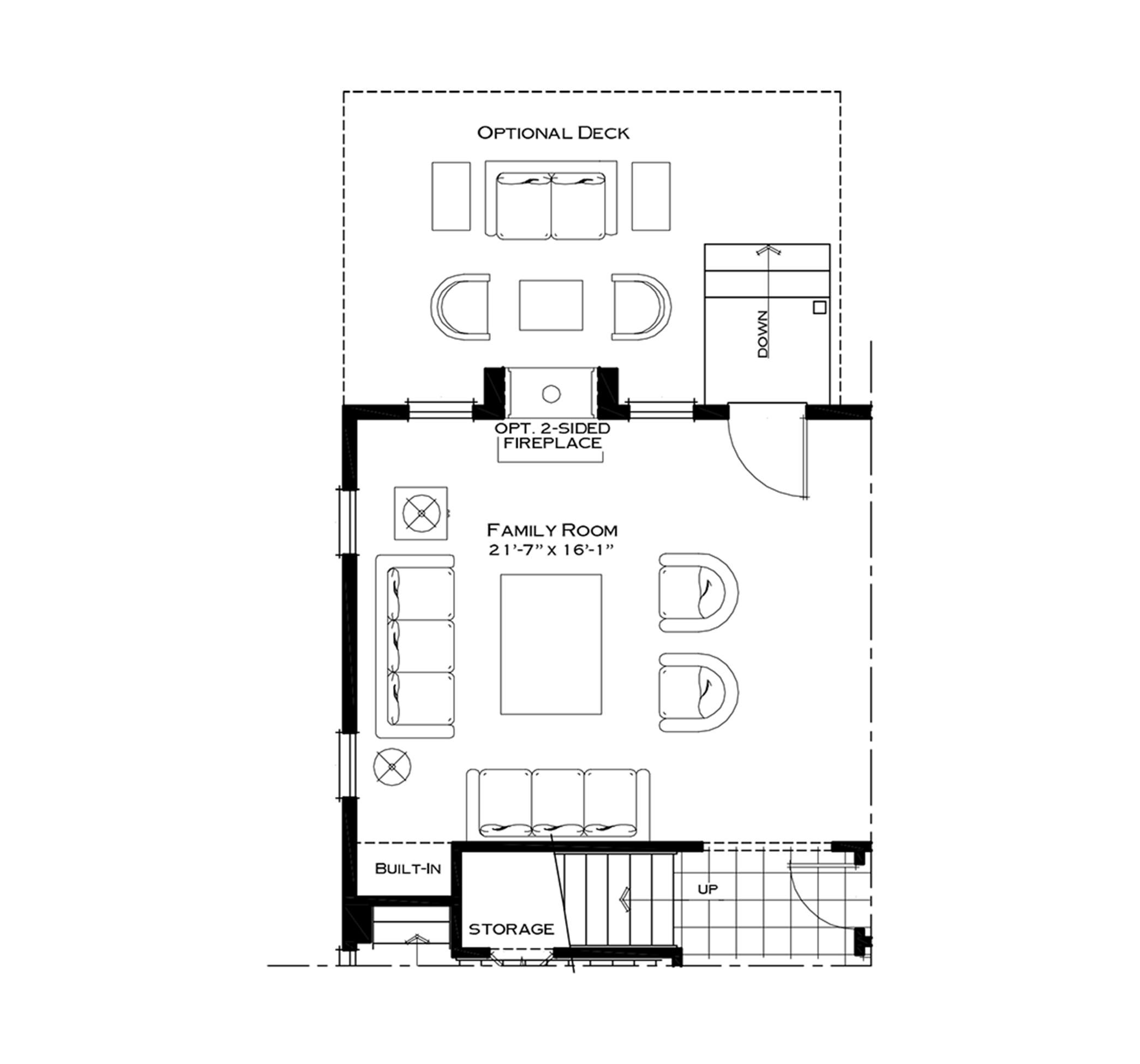 First Floor Twilight Fireplace Option