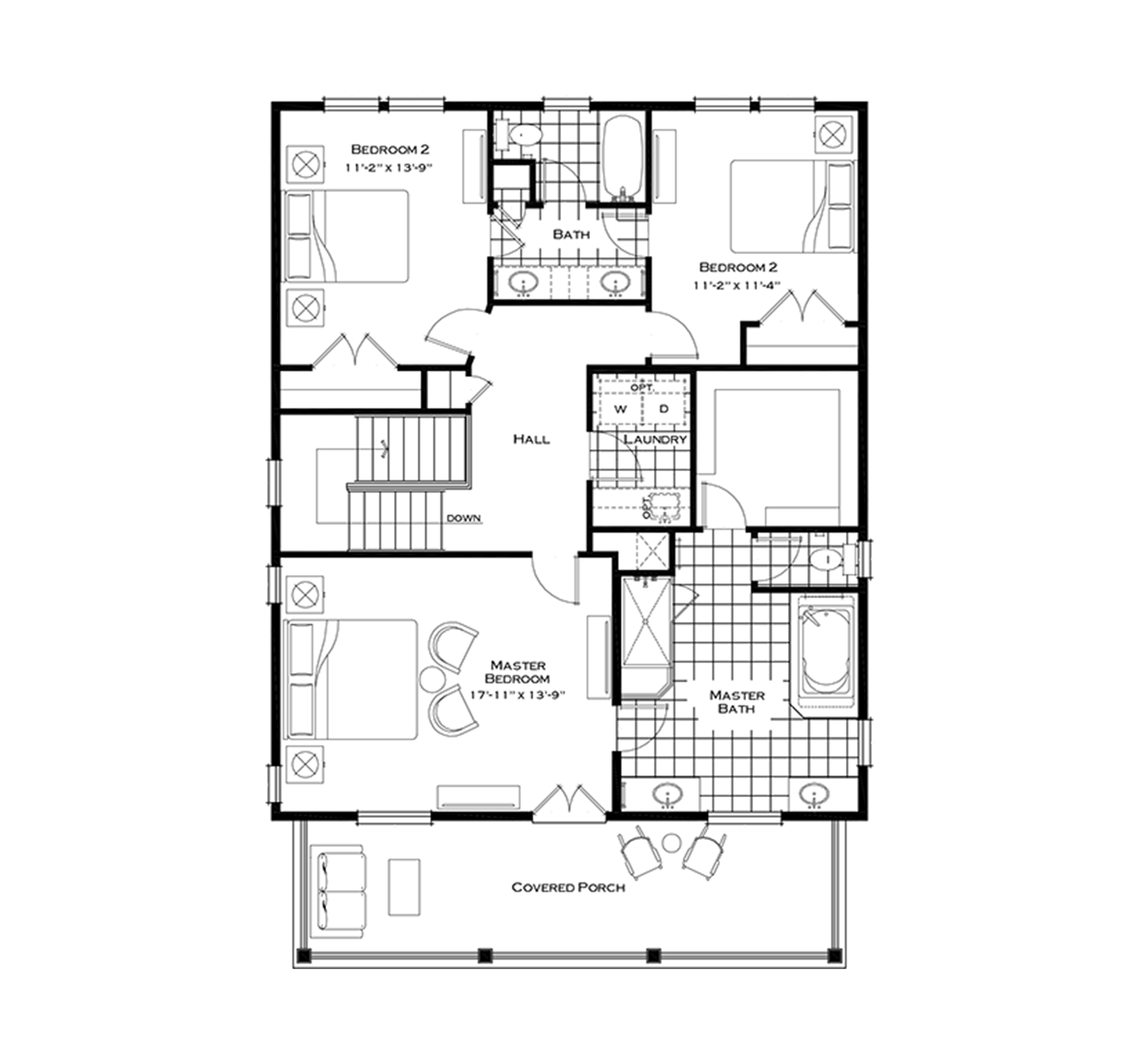 Second Floor with Optional Extended Laundry