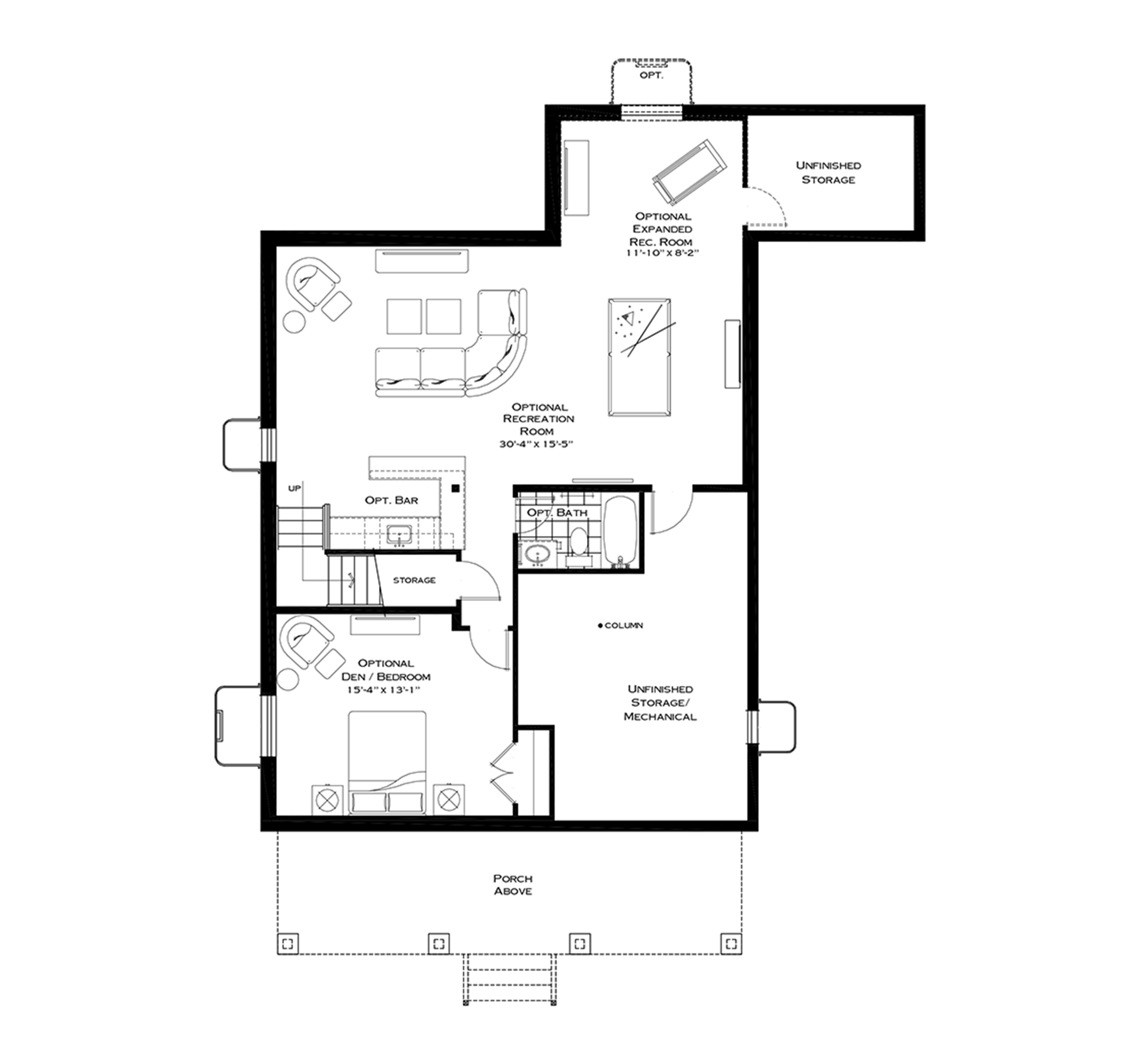 Optional Finished Basement with First Floor Breakfast and Mudroom