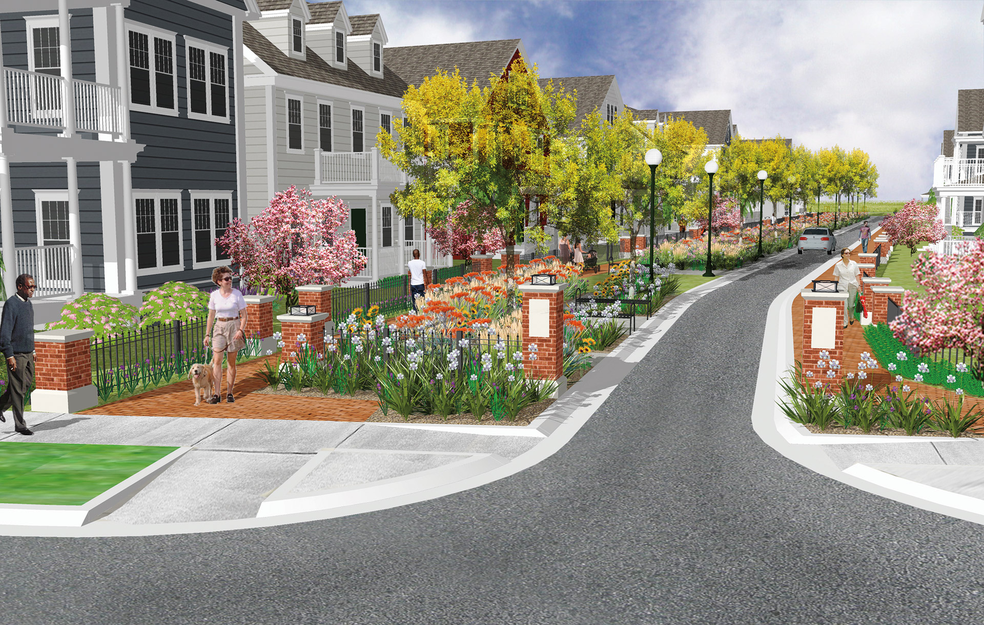 Artist's rendering of Boston Street
