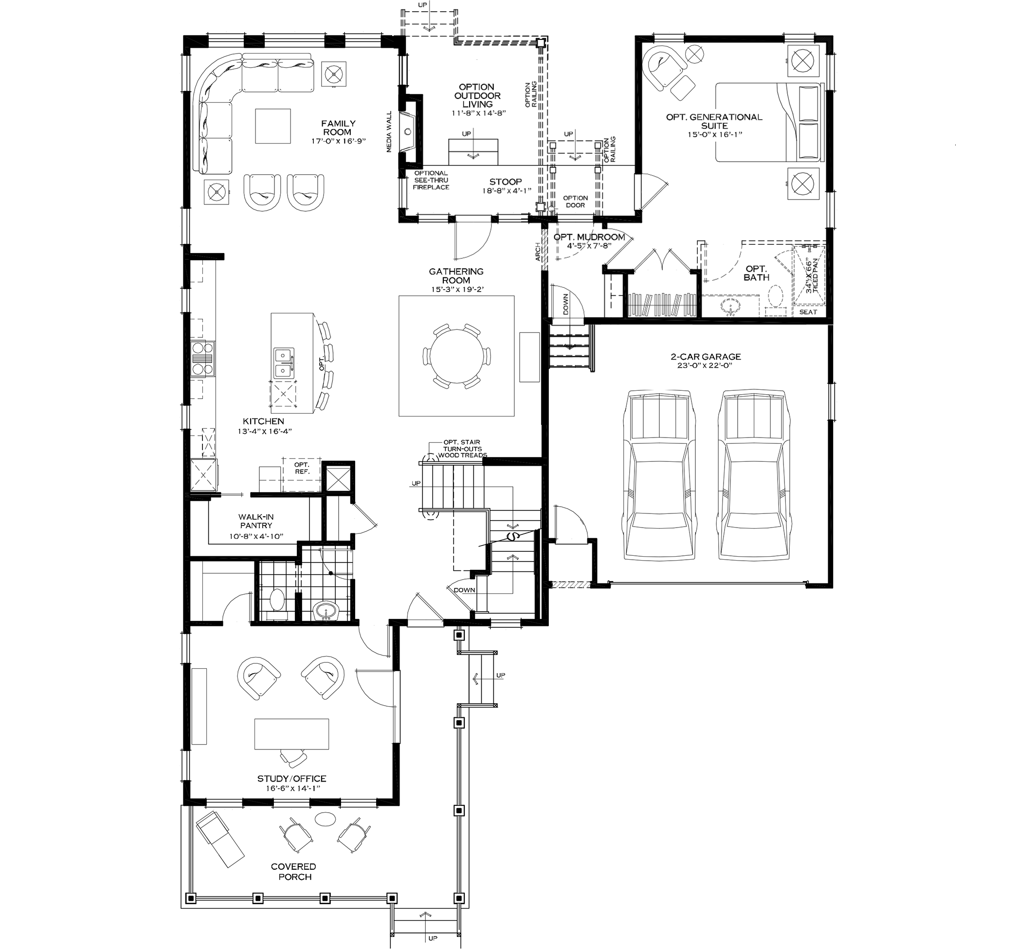 First Floor with Generational Suite Option