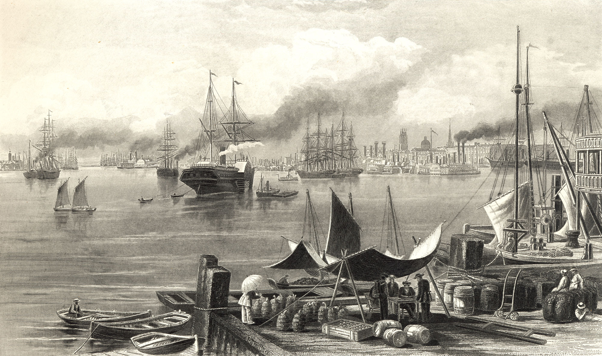 Engraving of New Orleans in 1872.   Source