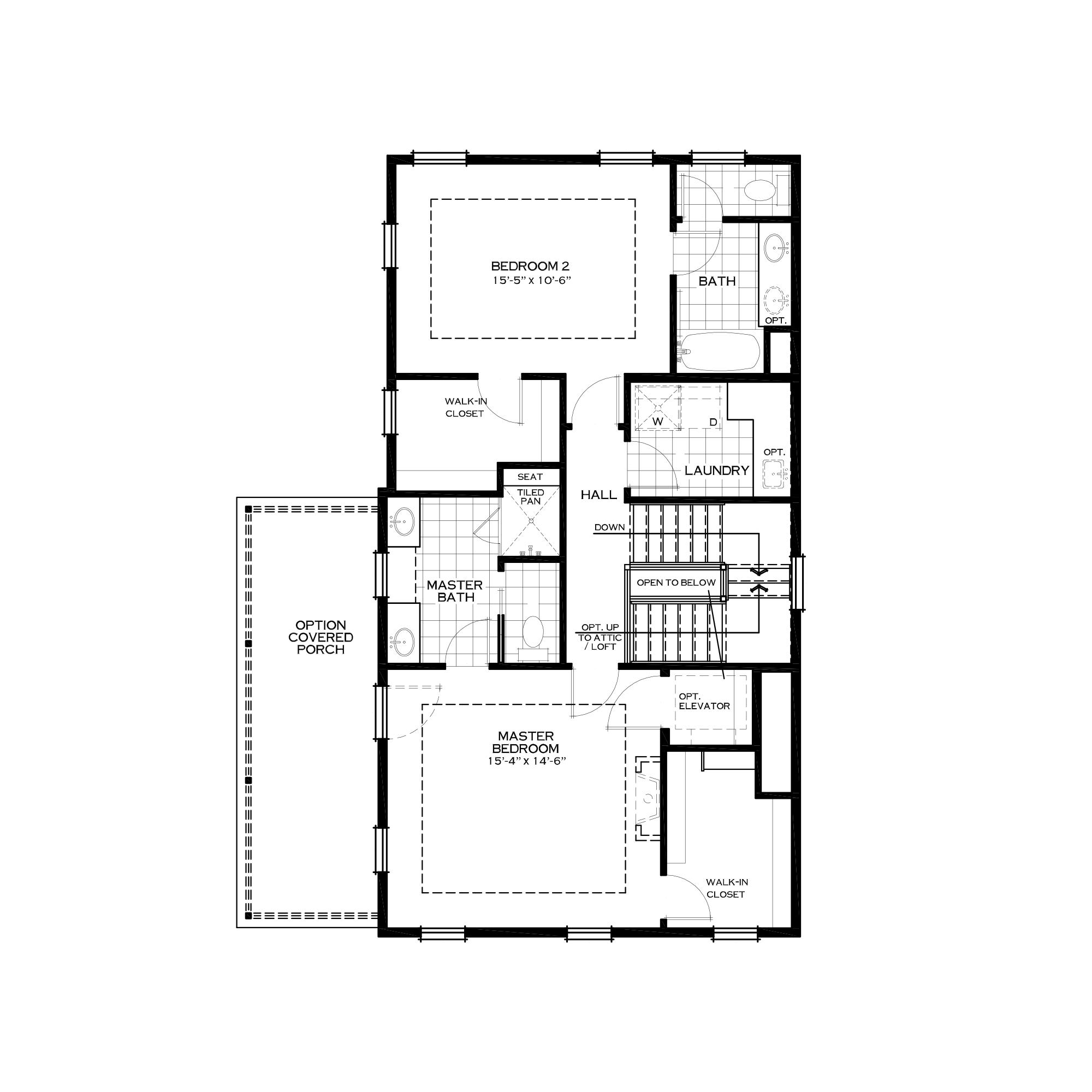 Third Floor Two-Bedroom Alternative Plan