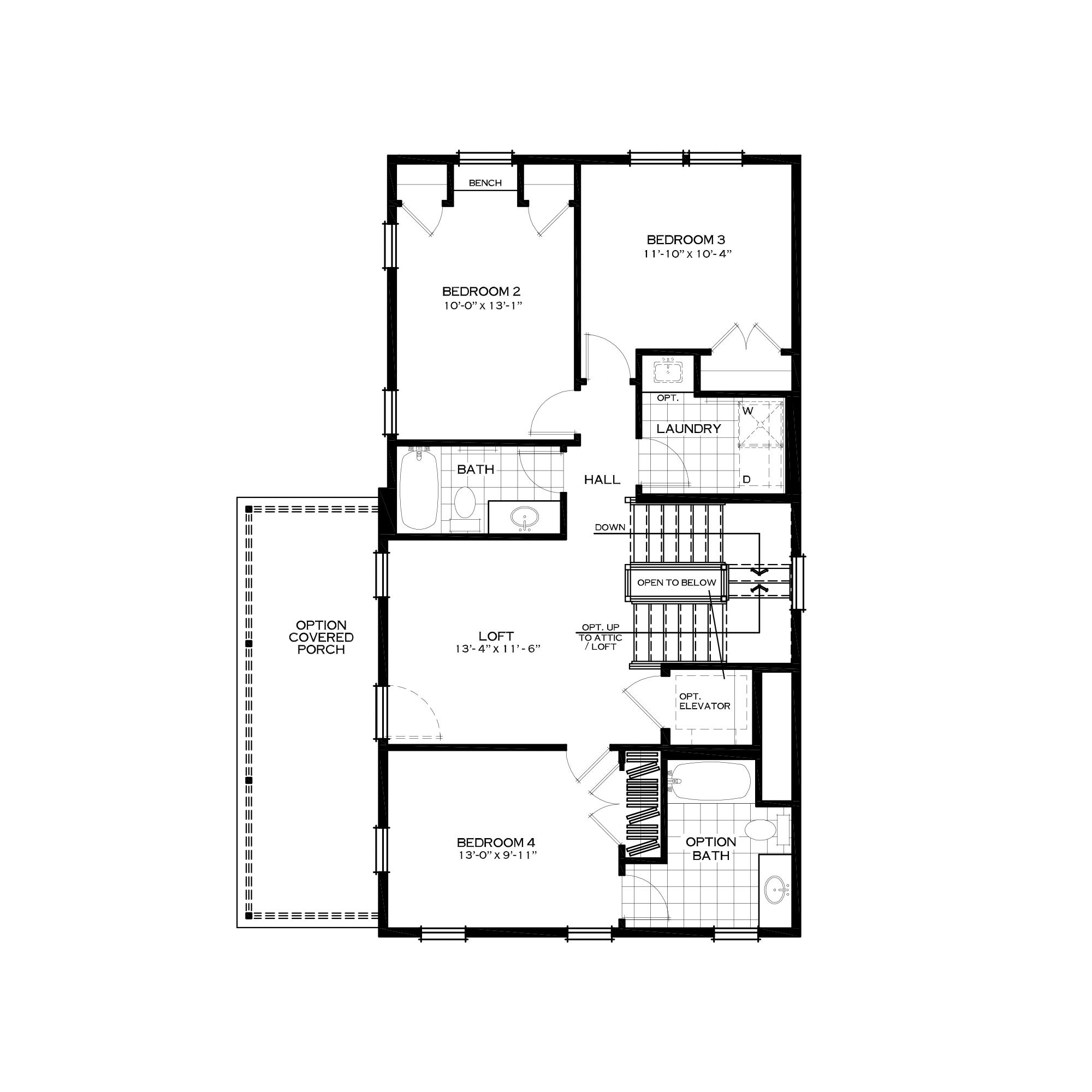 Third Floor Three Bedroom Option
