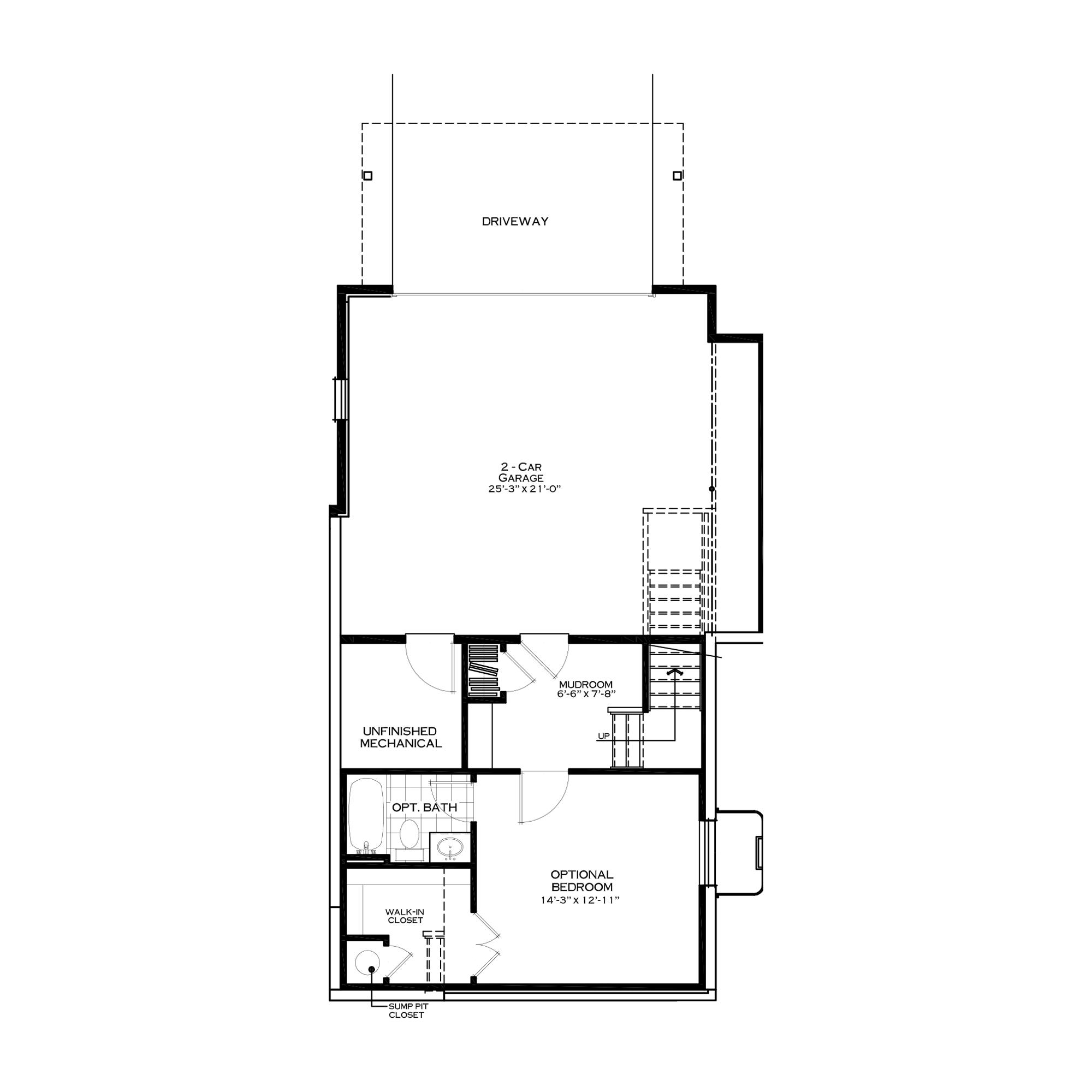 Optional First Floor with Bedroom Suite