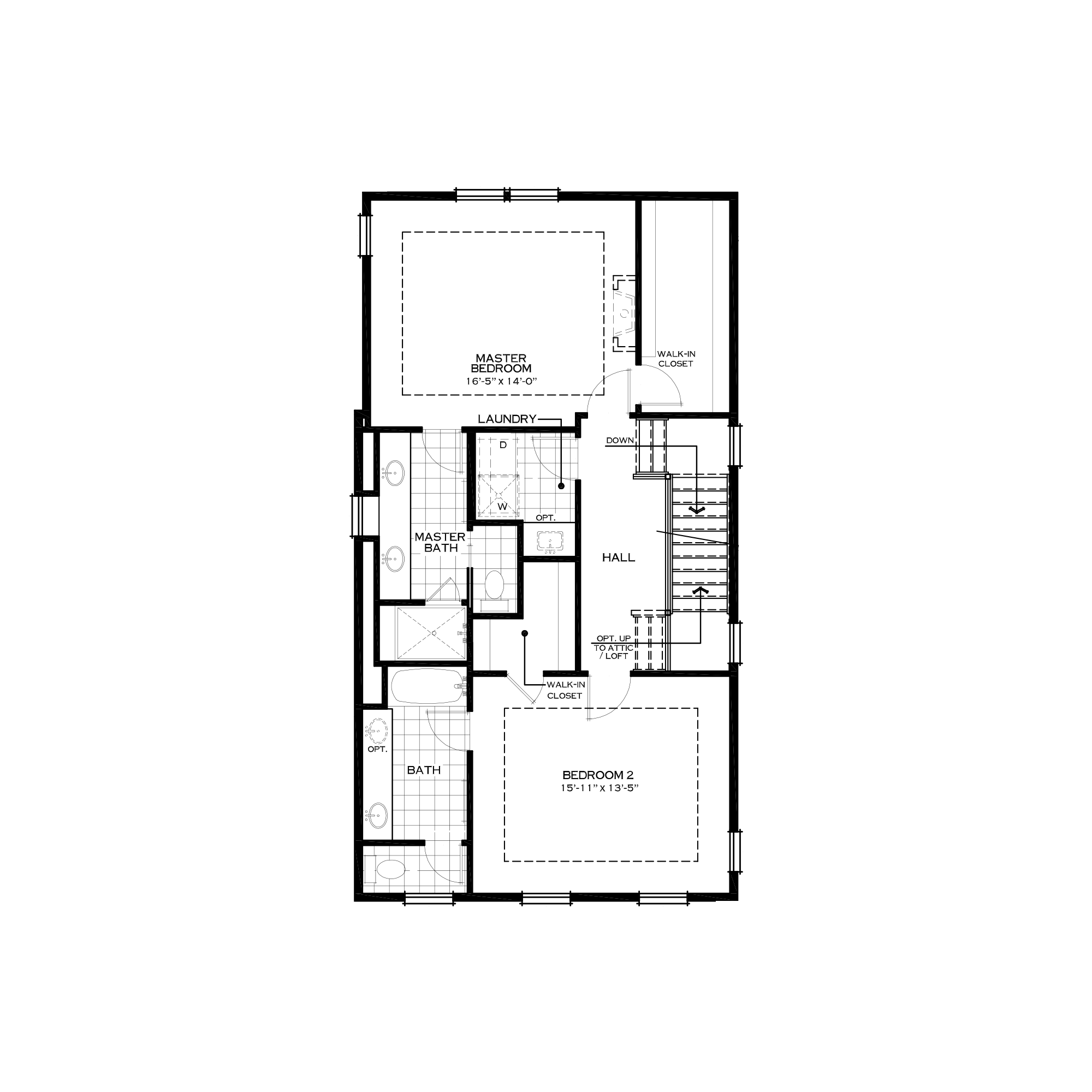 Optional Third Floor with Two Bedrooms
