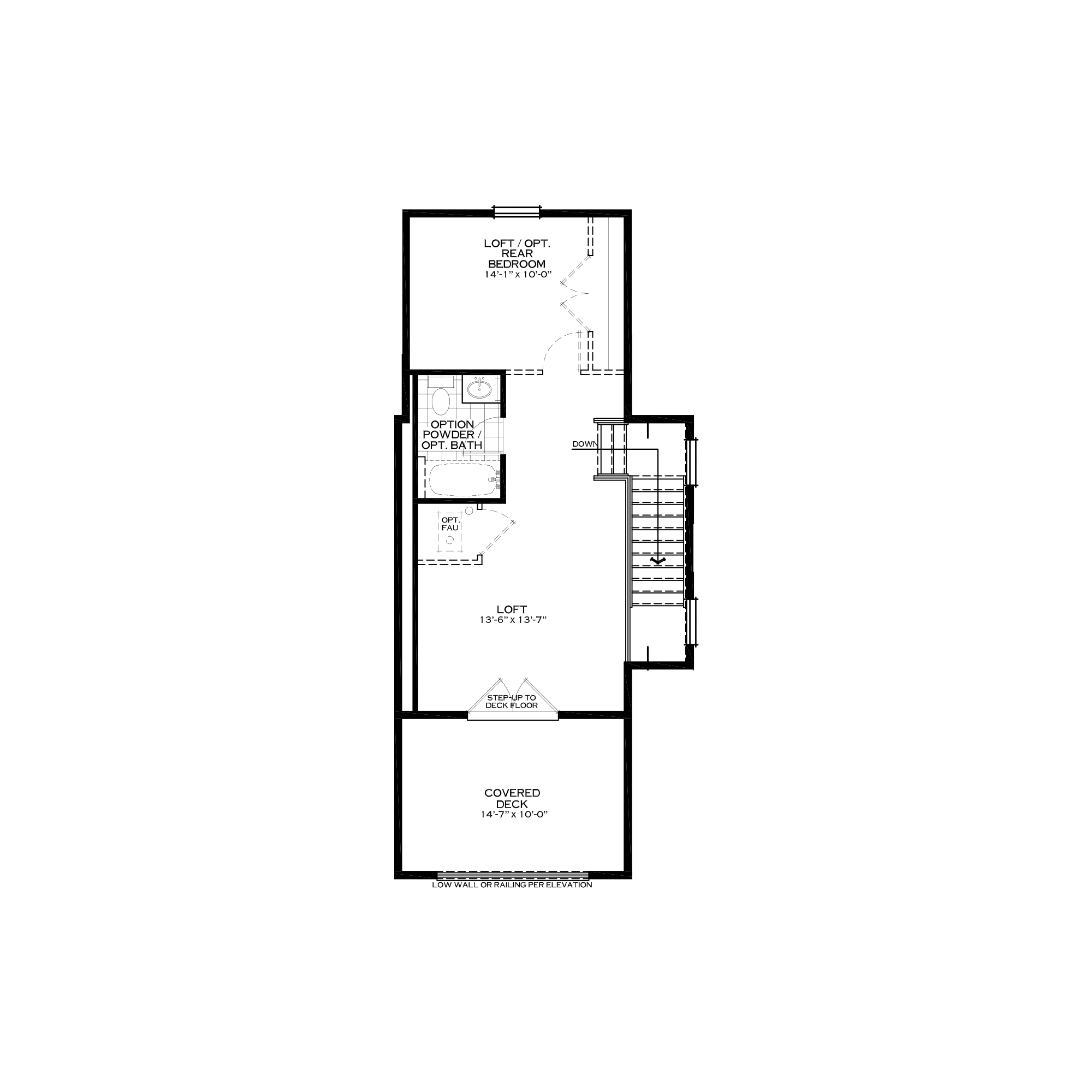 Optional Loft with Front Covered Deck