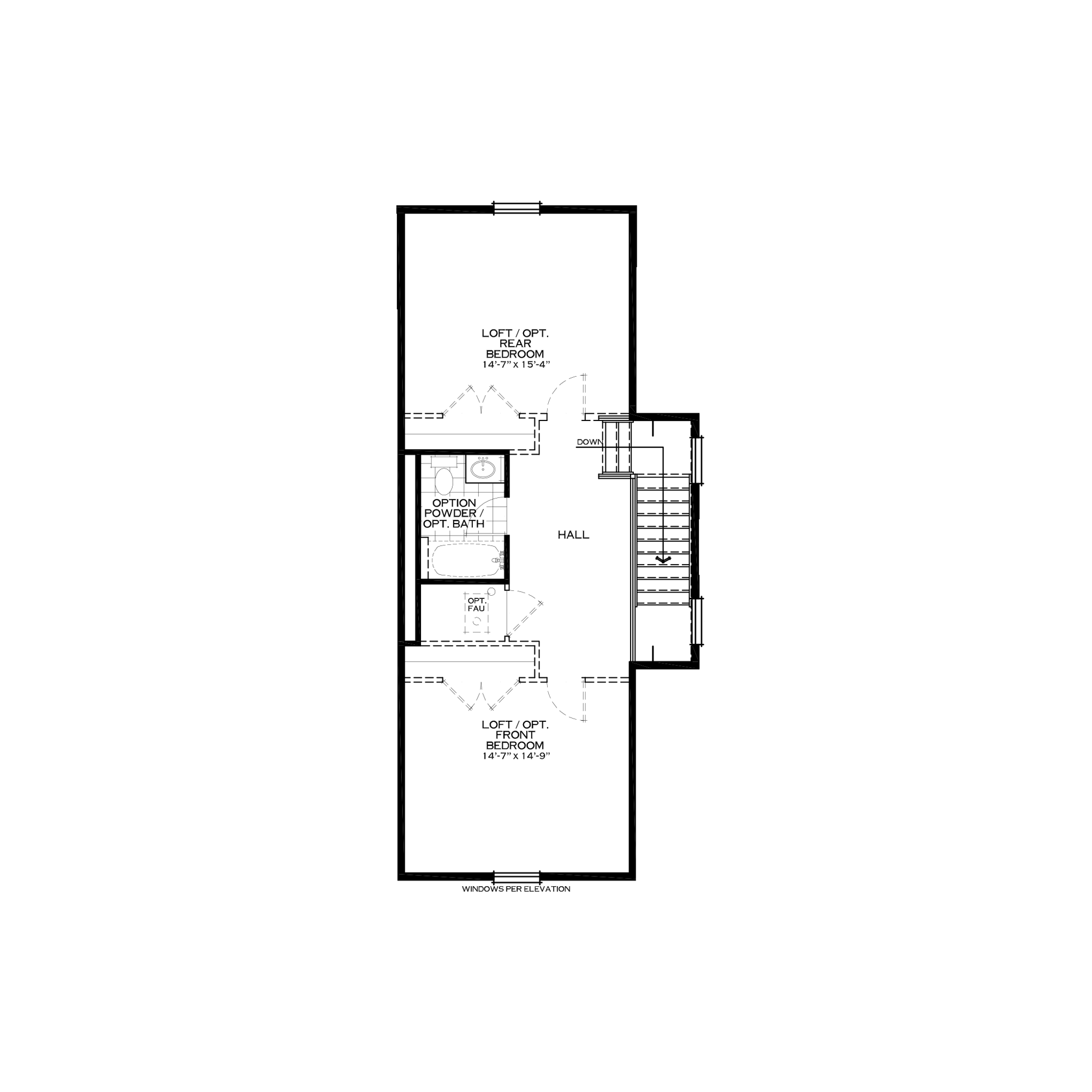 Optional Loft with Two Bedrooms