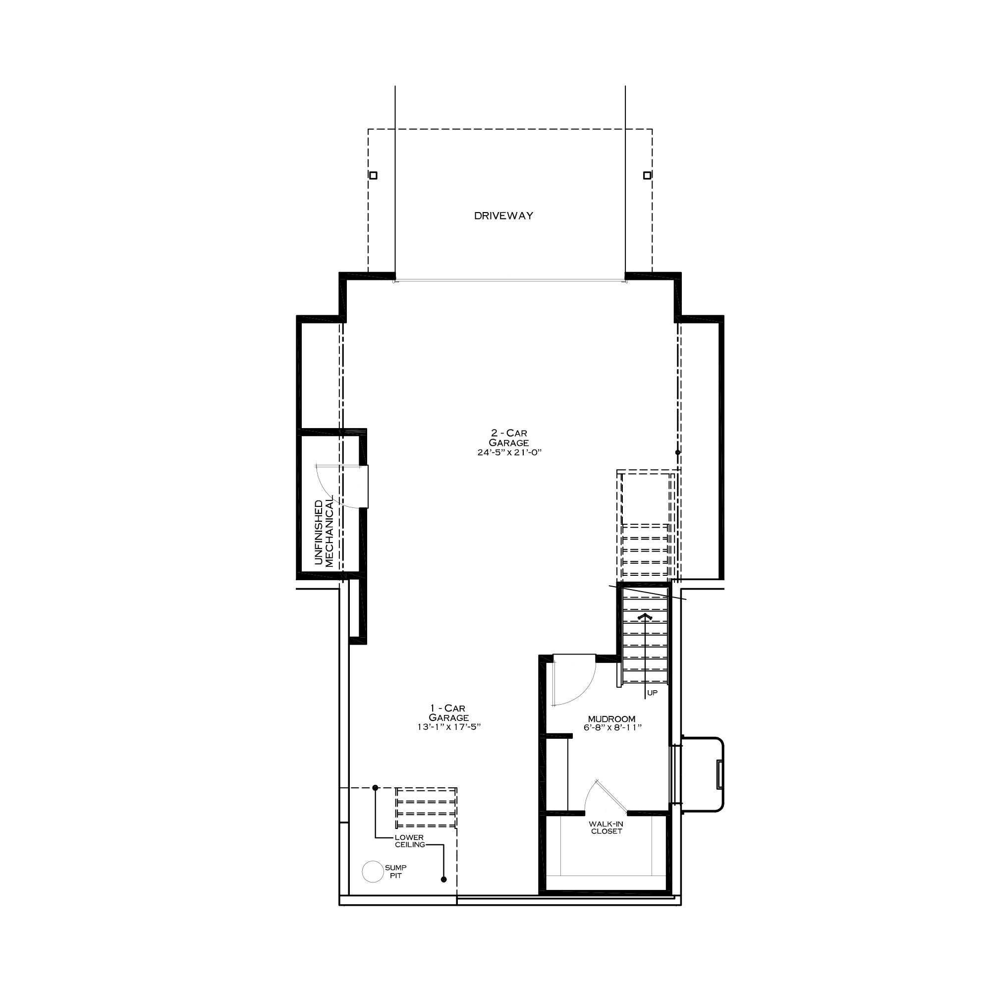 Optional First Floor with 3-Car Garage