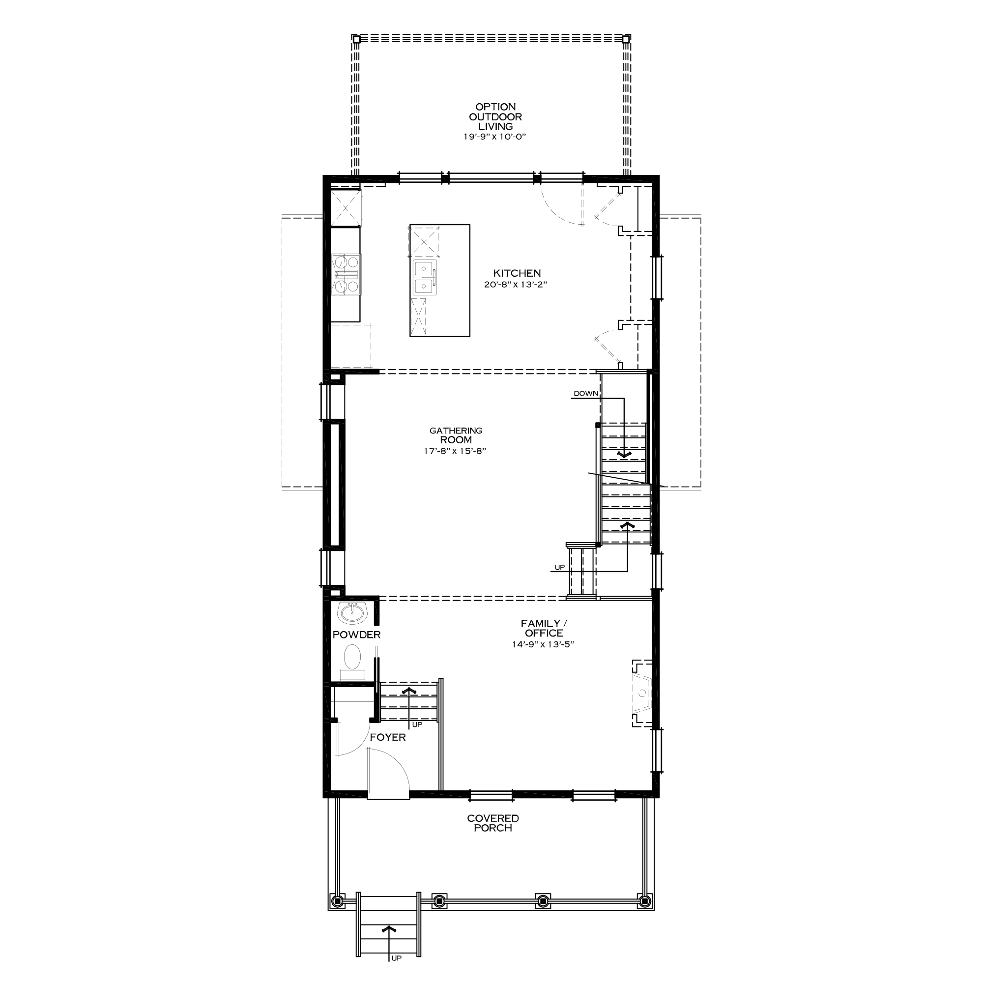 Optional Second Floor with Rear Kitchen