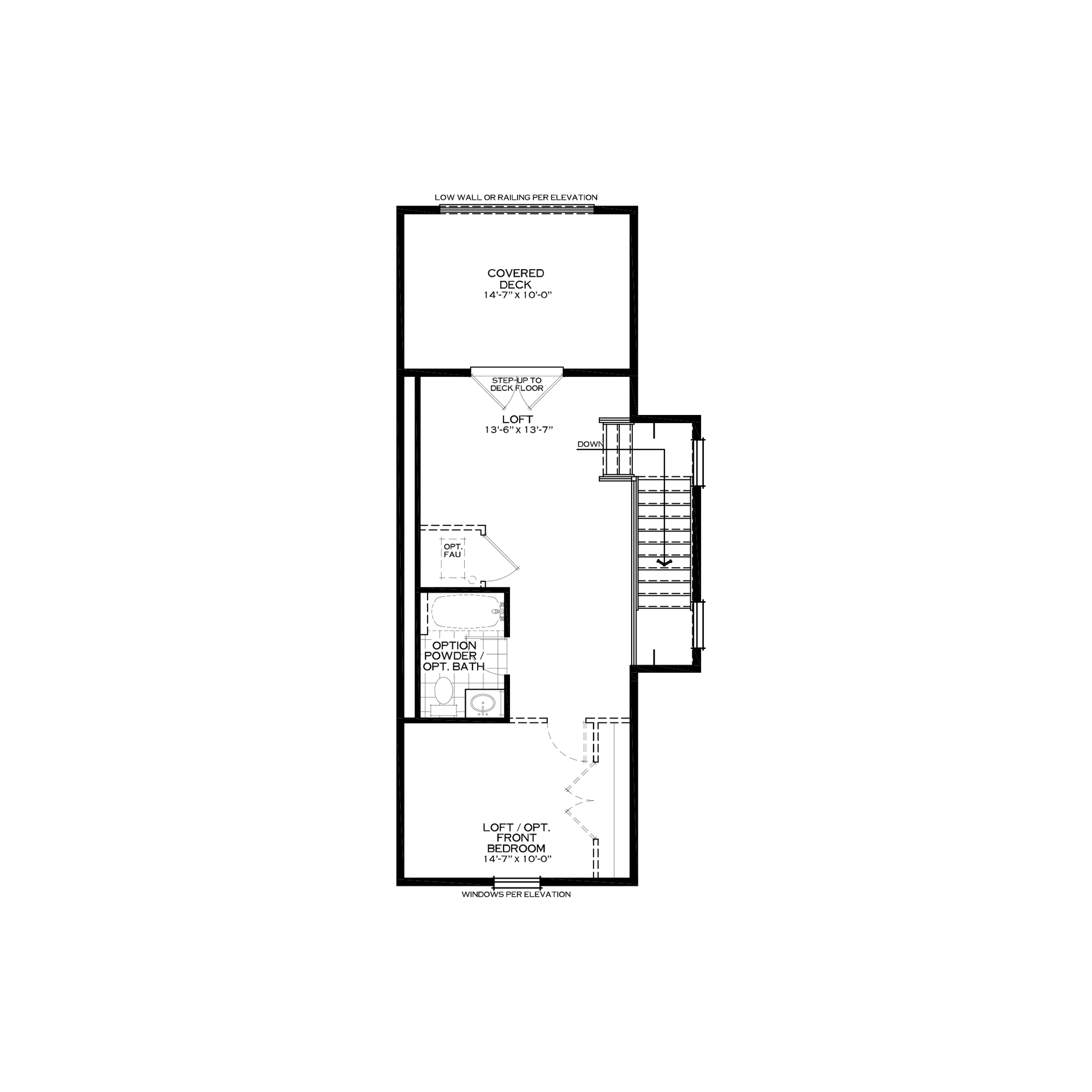 Optional Loft with Rear Covered Deck