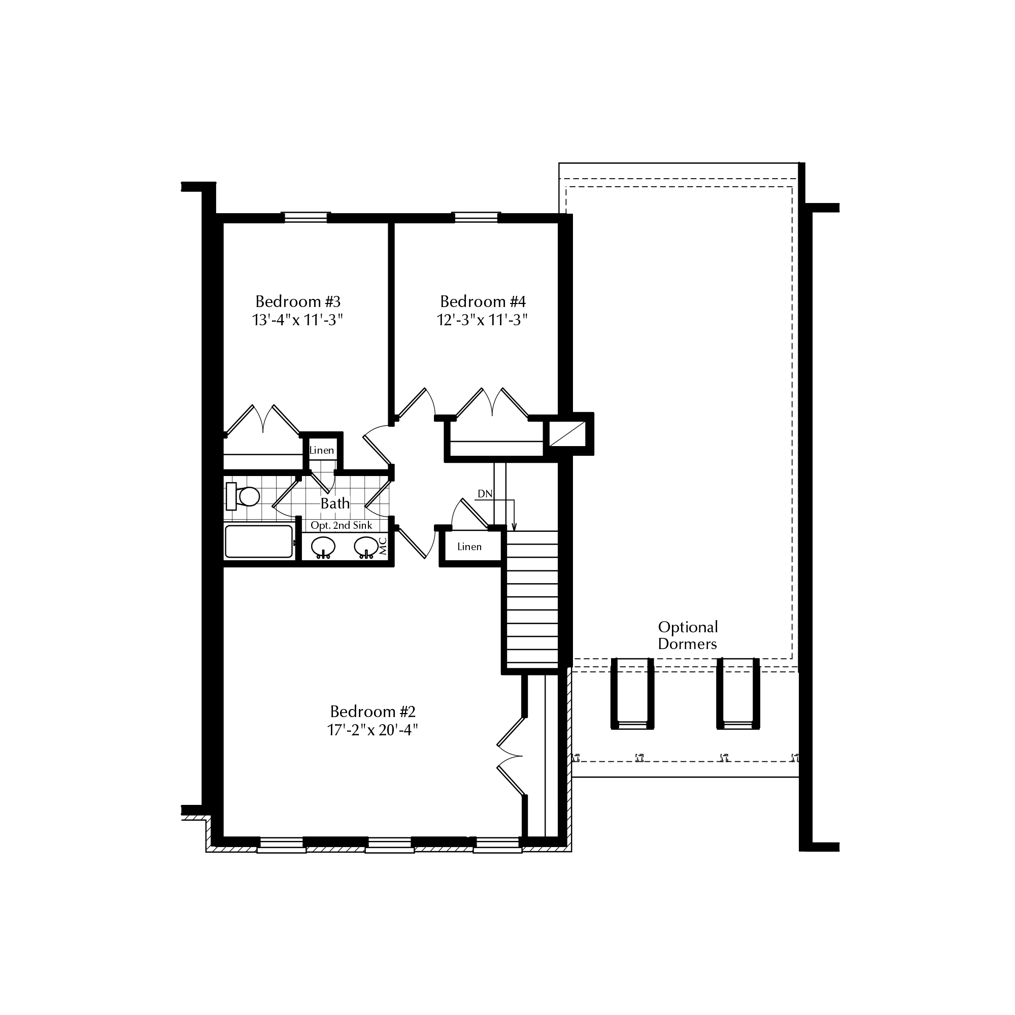 Optional Second Floor with 3 Beds