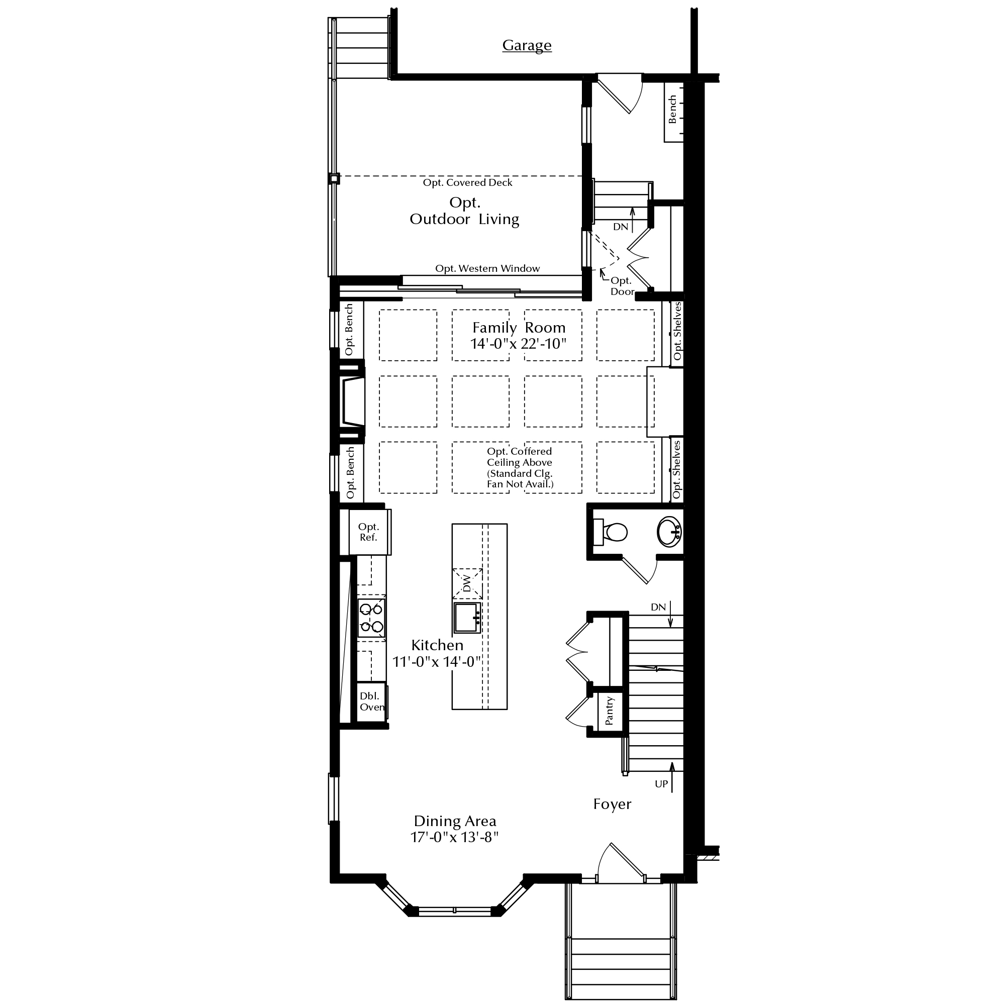 First Floor with Attached Garage and Options