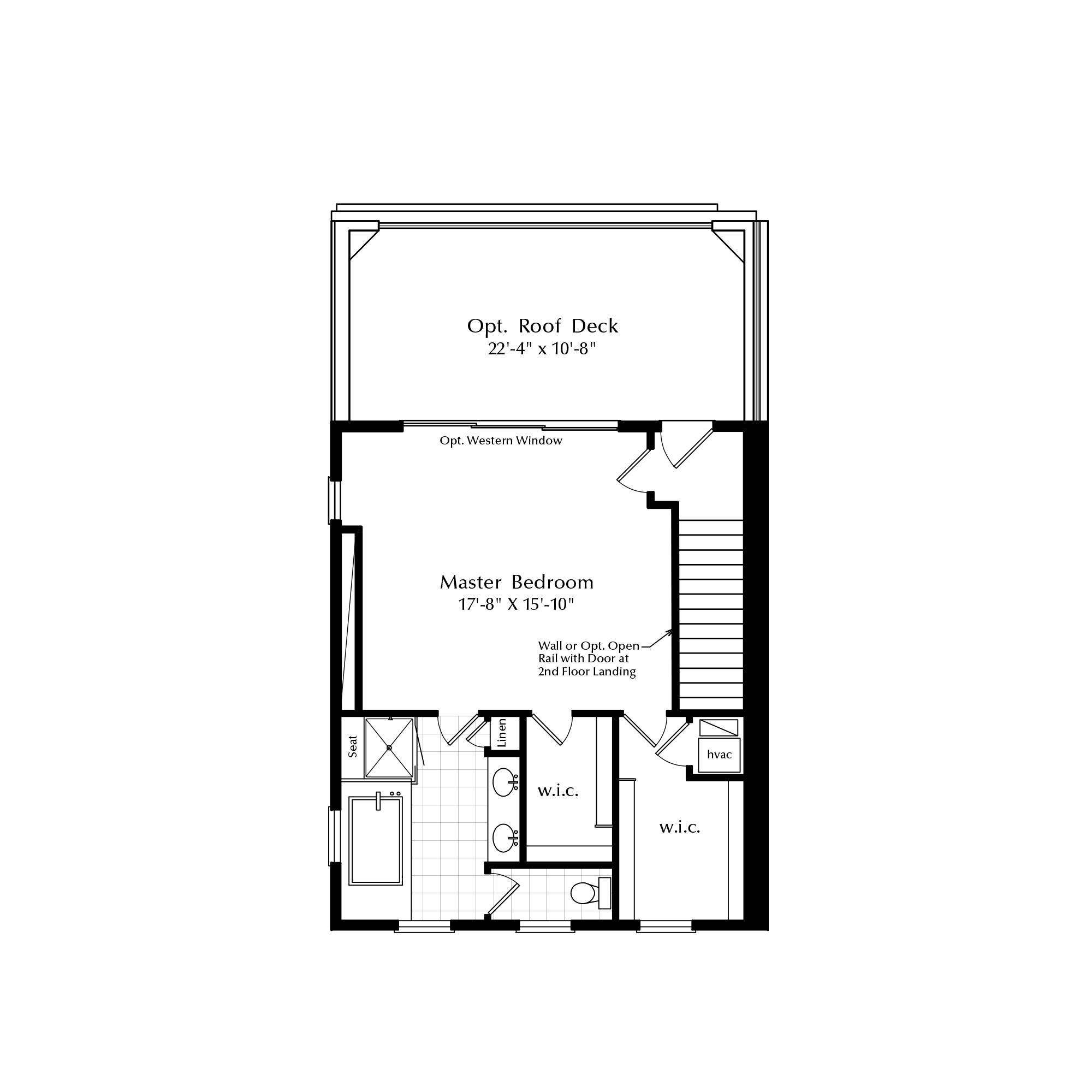 Third Floor Loft with Master Suite Option