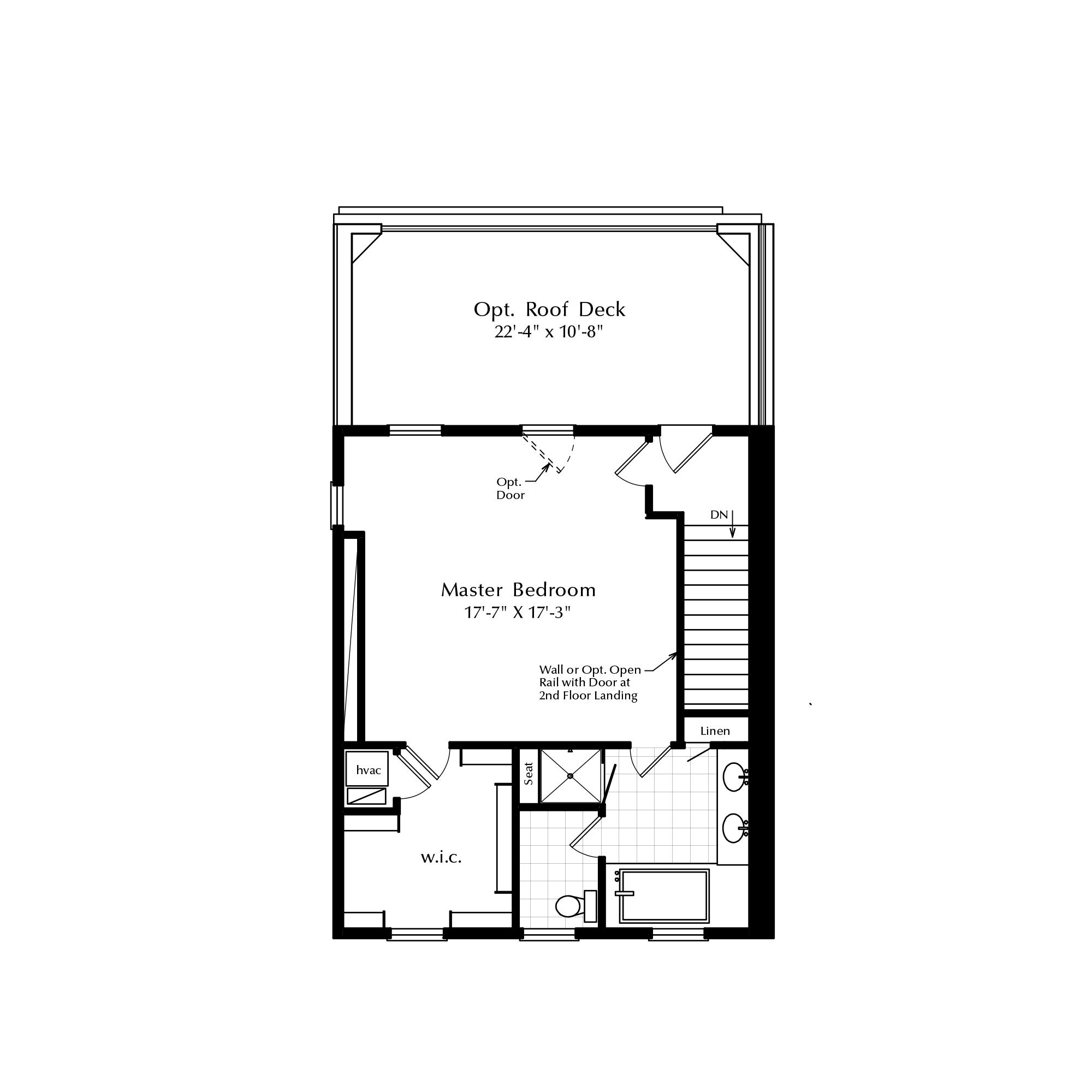 Alternative Third Floor with Master Suite Option