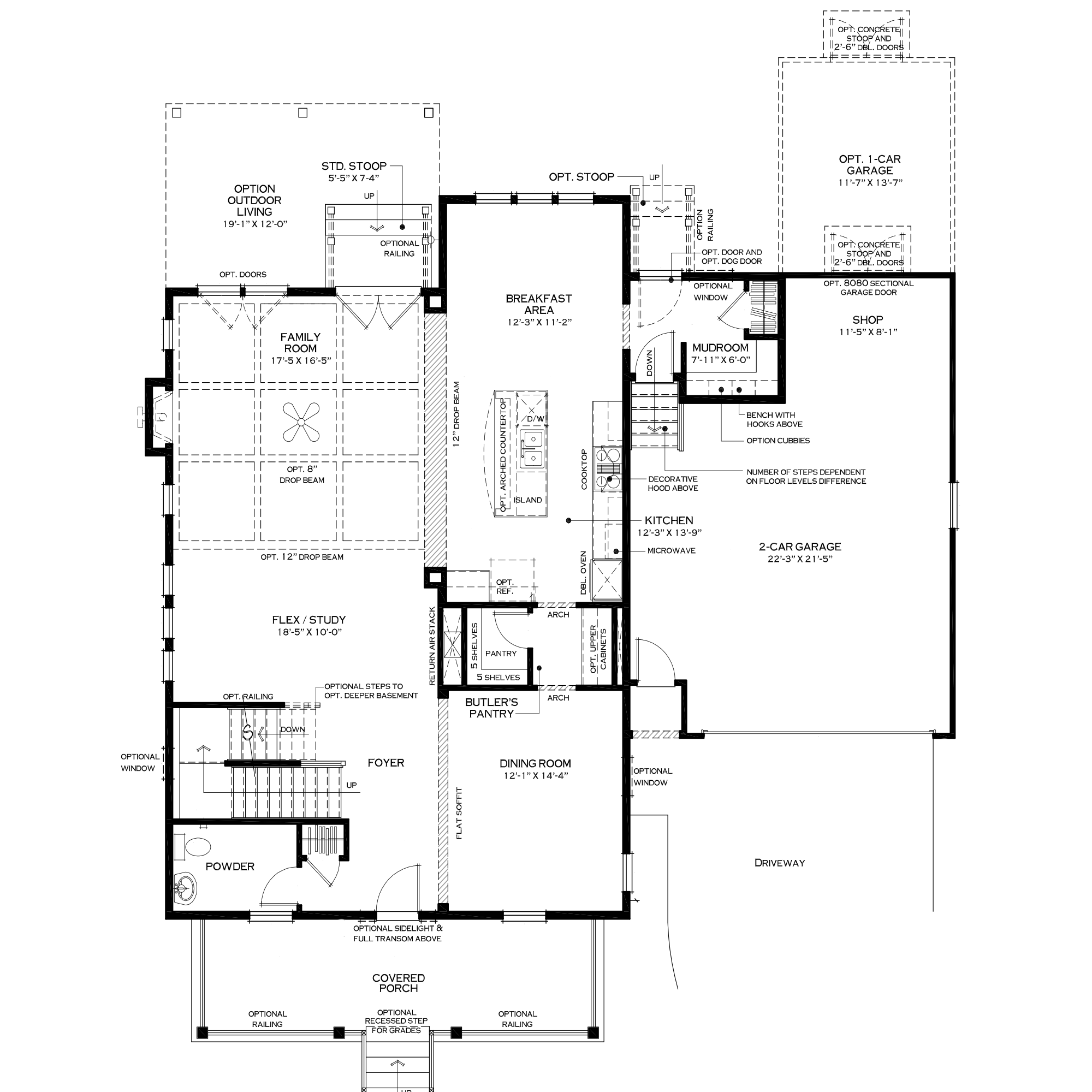 First Floor with Mudroom Option