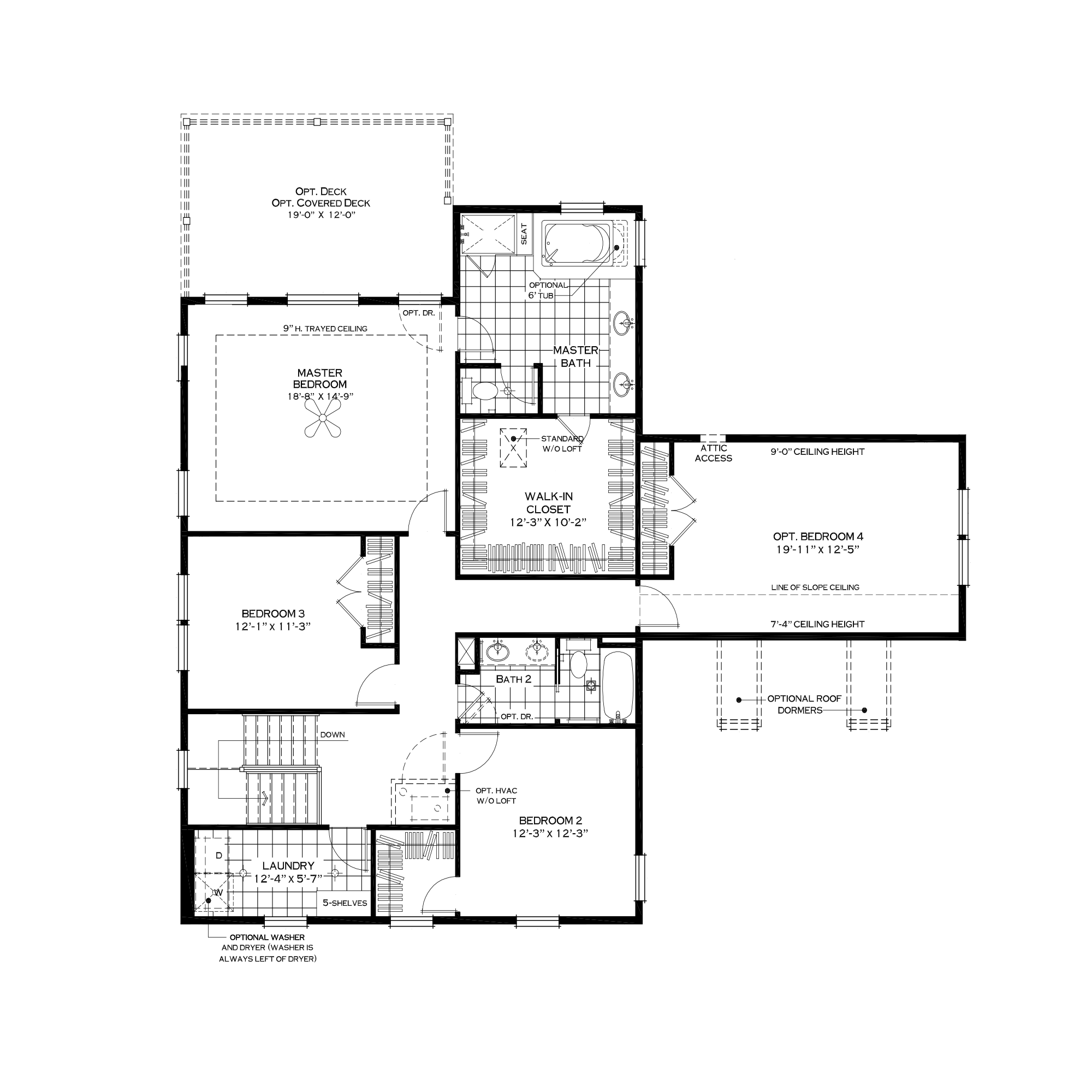 Second Floor with Garage Loft Option