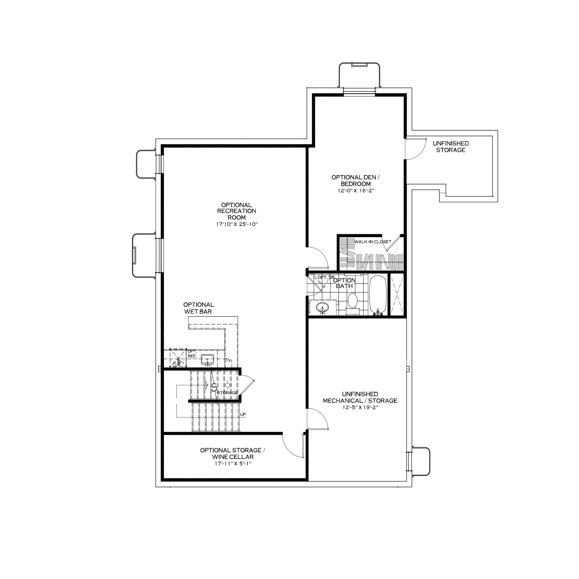 Optional Finished Basement with Extended Mudroom Above
