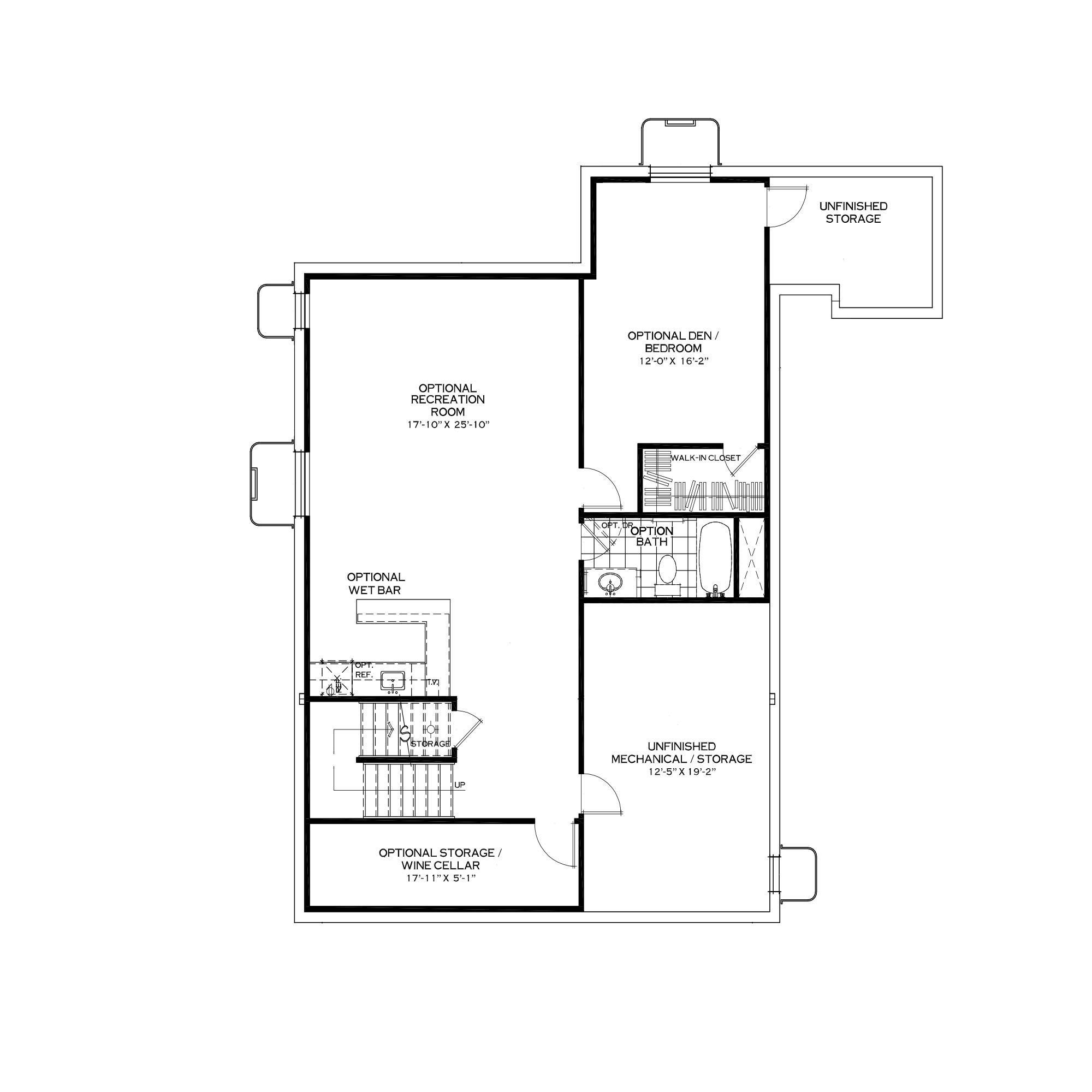 Optional Finished Basement with Mudroom Above