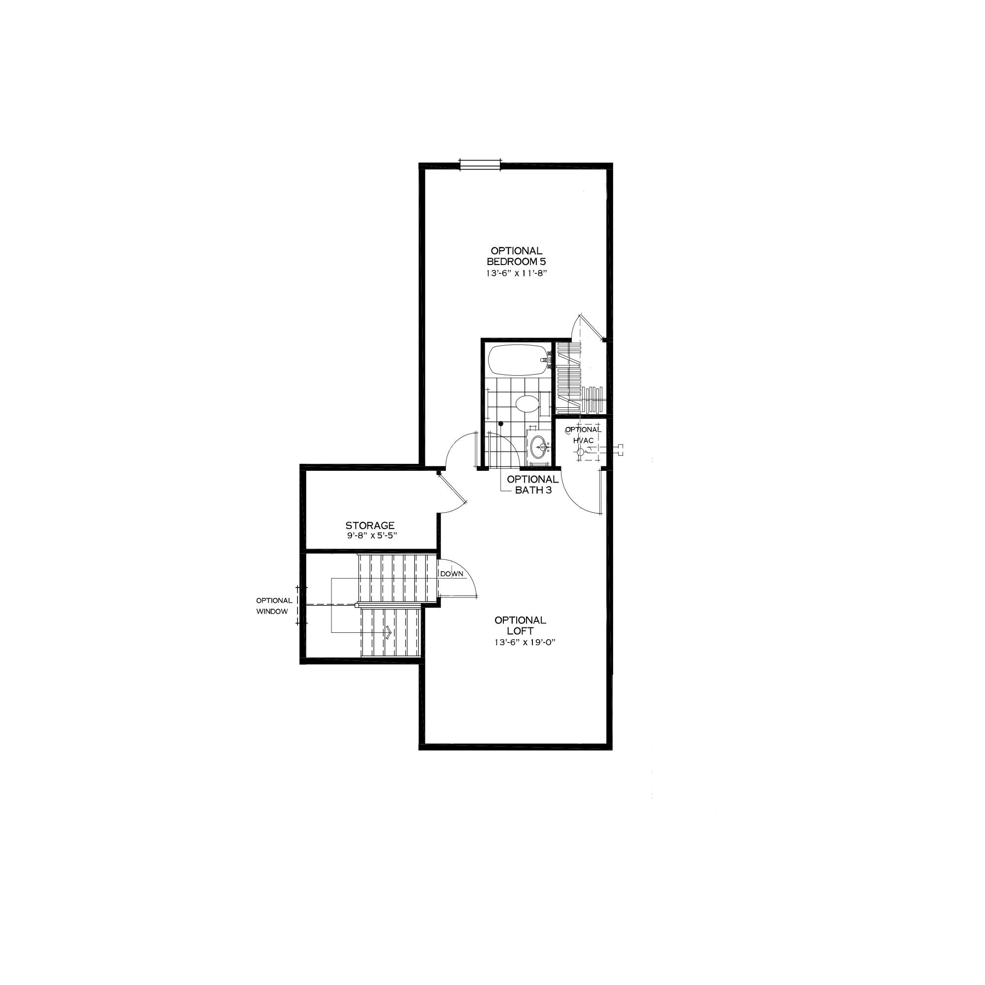 Optional Third Floor Loft in Alternate Layout