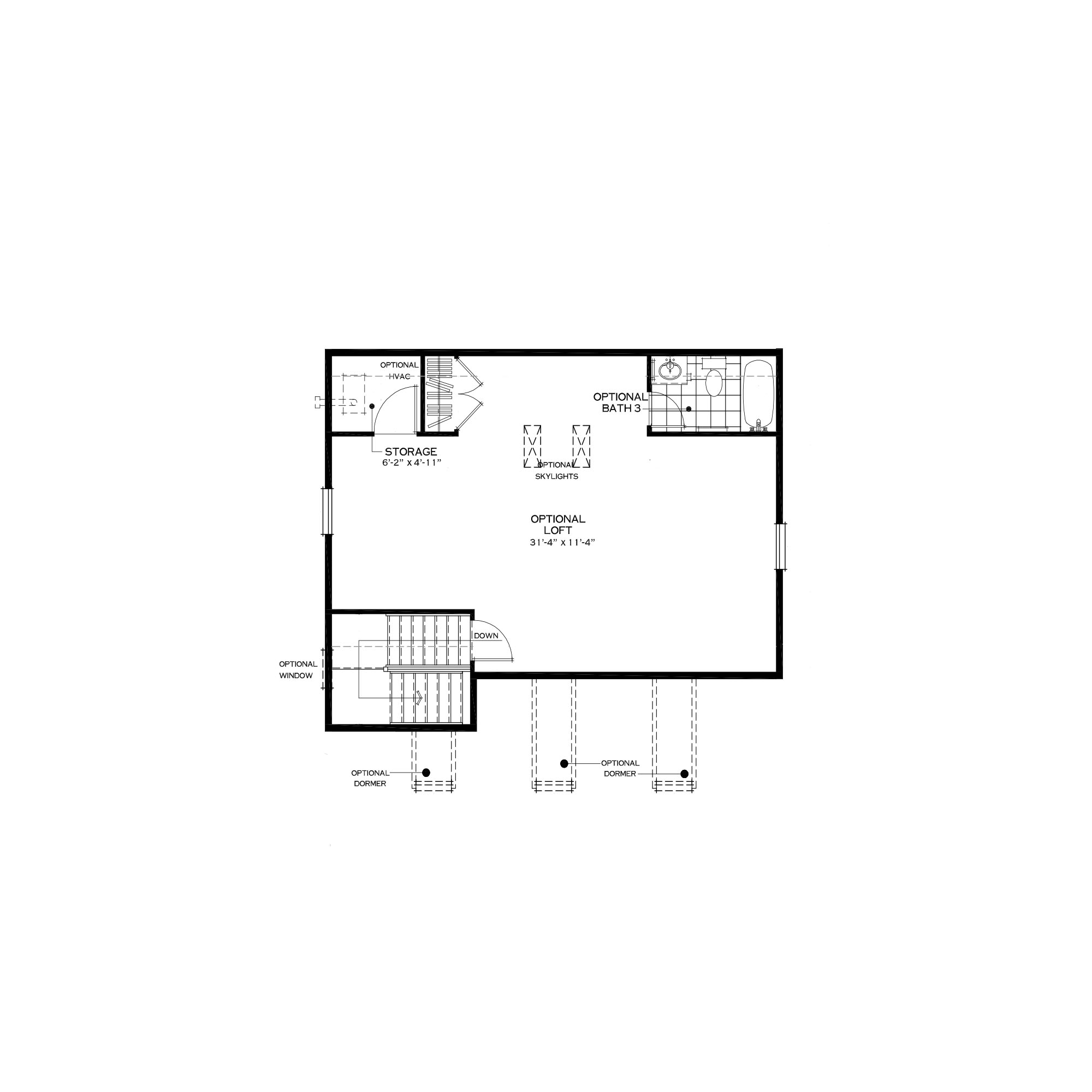 Optional Third Floor Loft