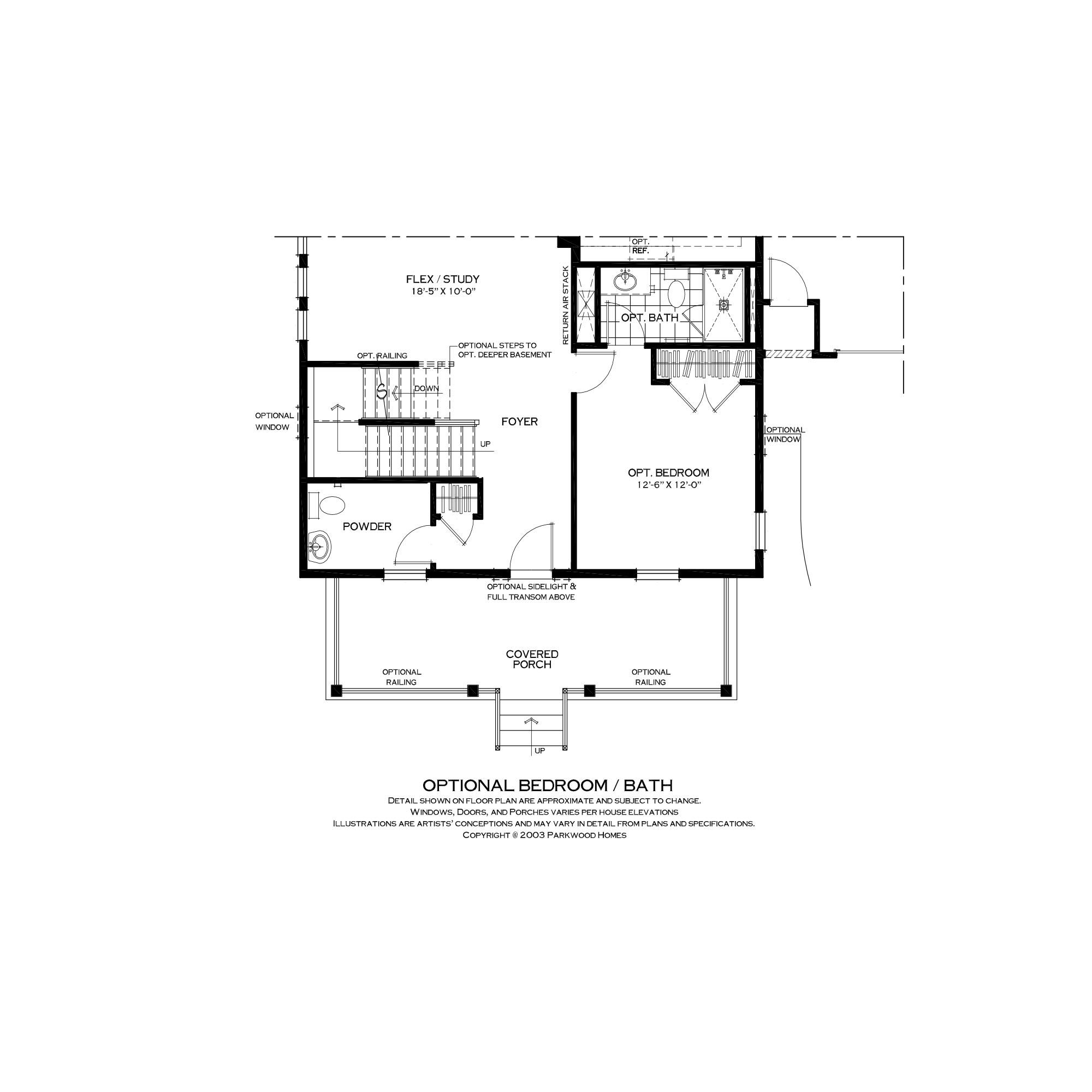 First Floor Bedroom Suite Option