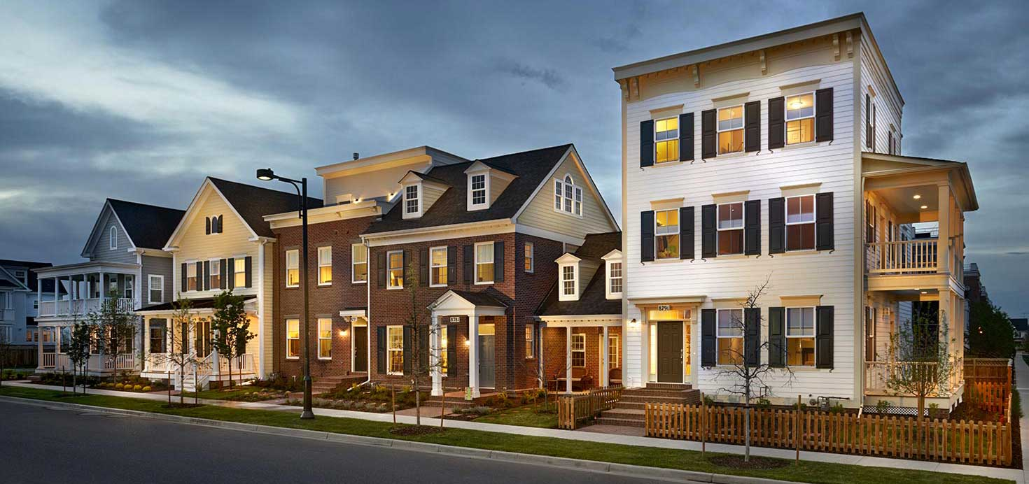 Townhomes Exterior Streetscape