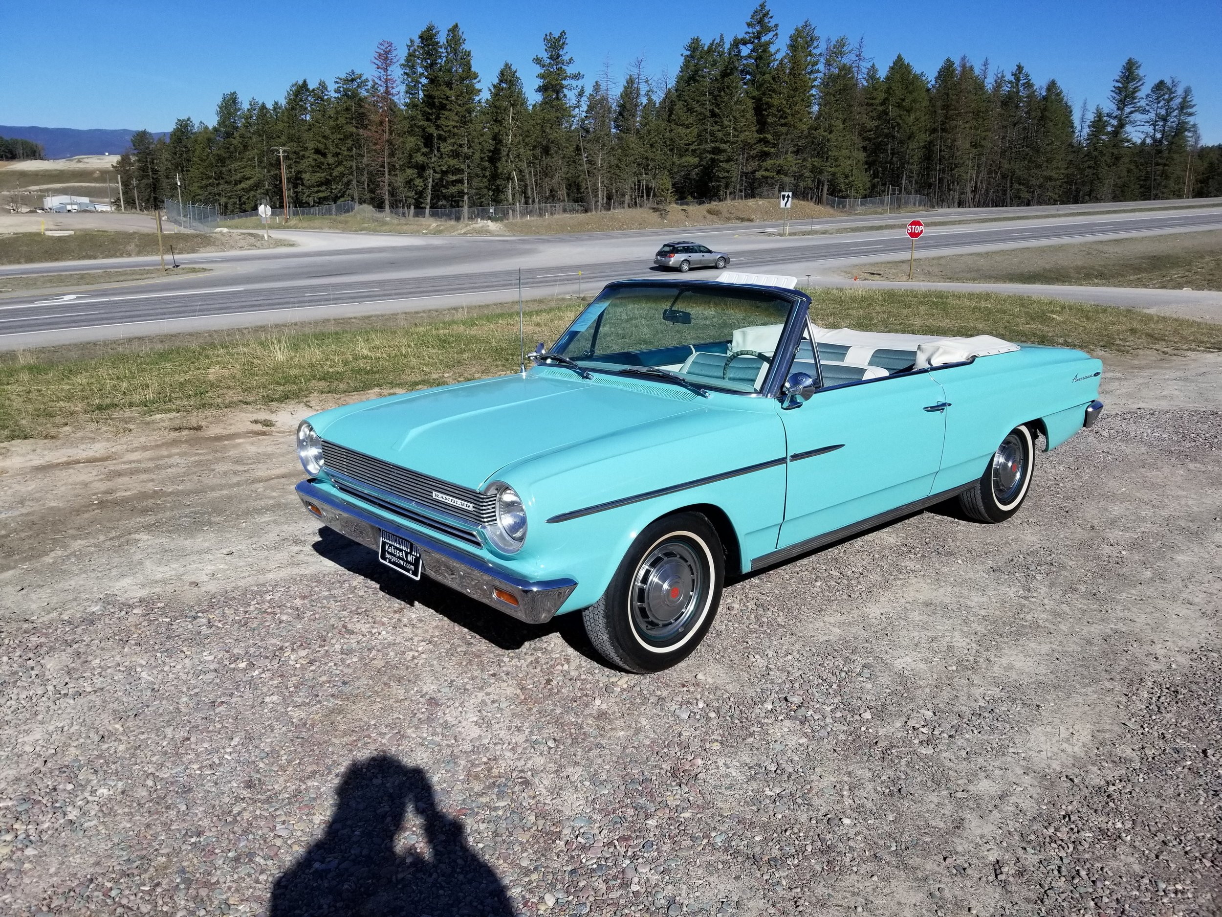 1964 AMC Rambler - Rambler 440 Convertible, Three on the tree and a straight six, drives amazing.SOLD