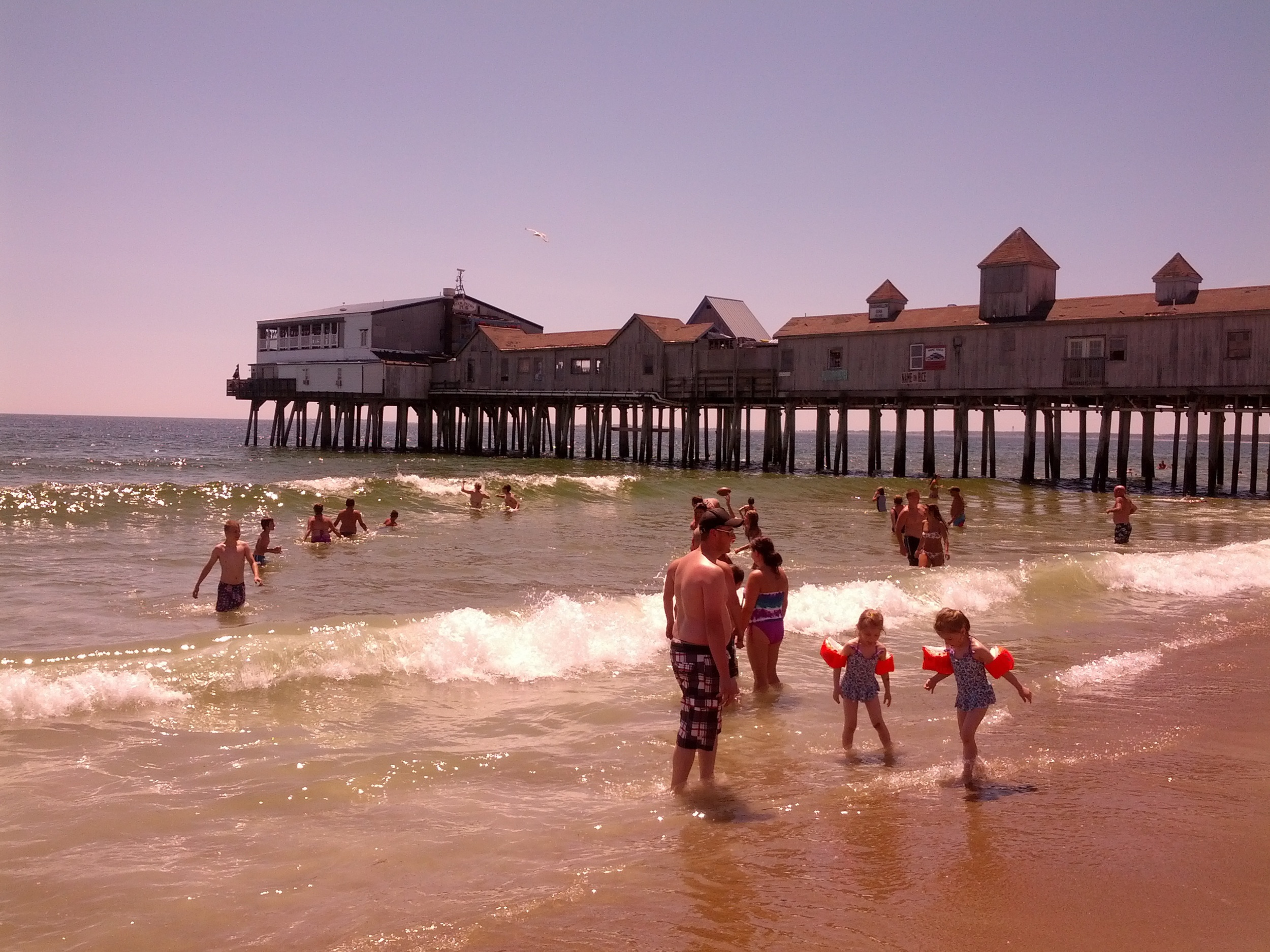 """The pier at Old Orchard Beach aka """"Spruce Point Beach"""""""