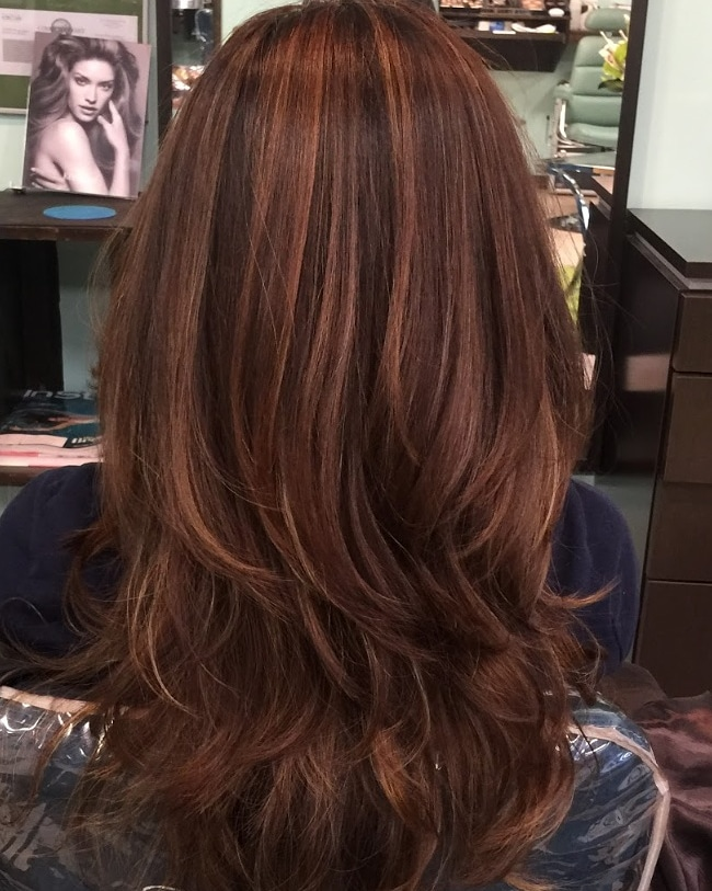 Root touchup / Partial highlight / layer haircut
